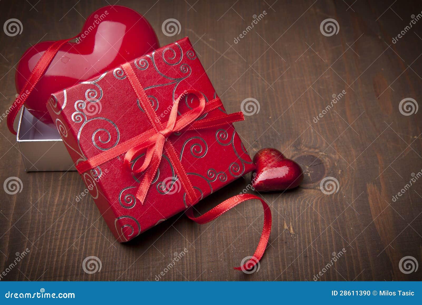 Tarjetas del día de San Valentín presentes