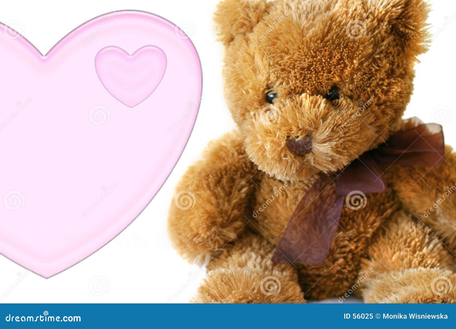 Tarjetas del día de San Valentín - Teddybear con el corazón