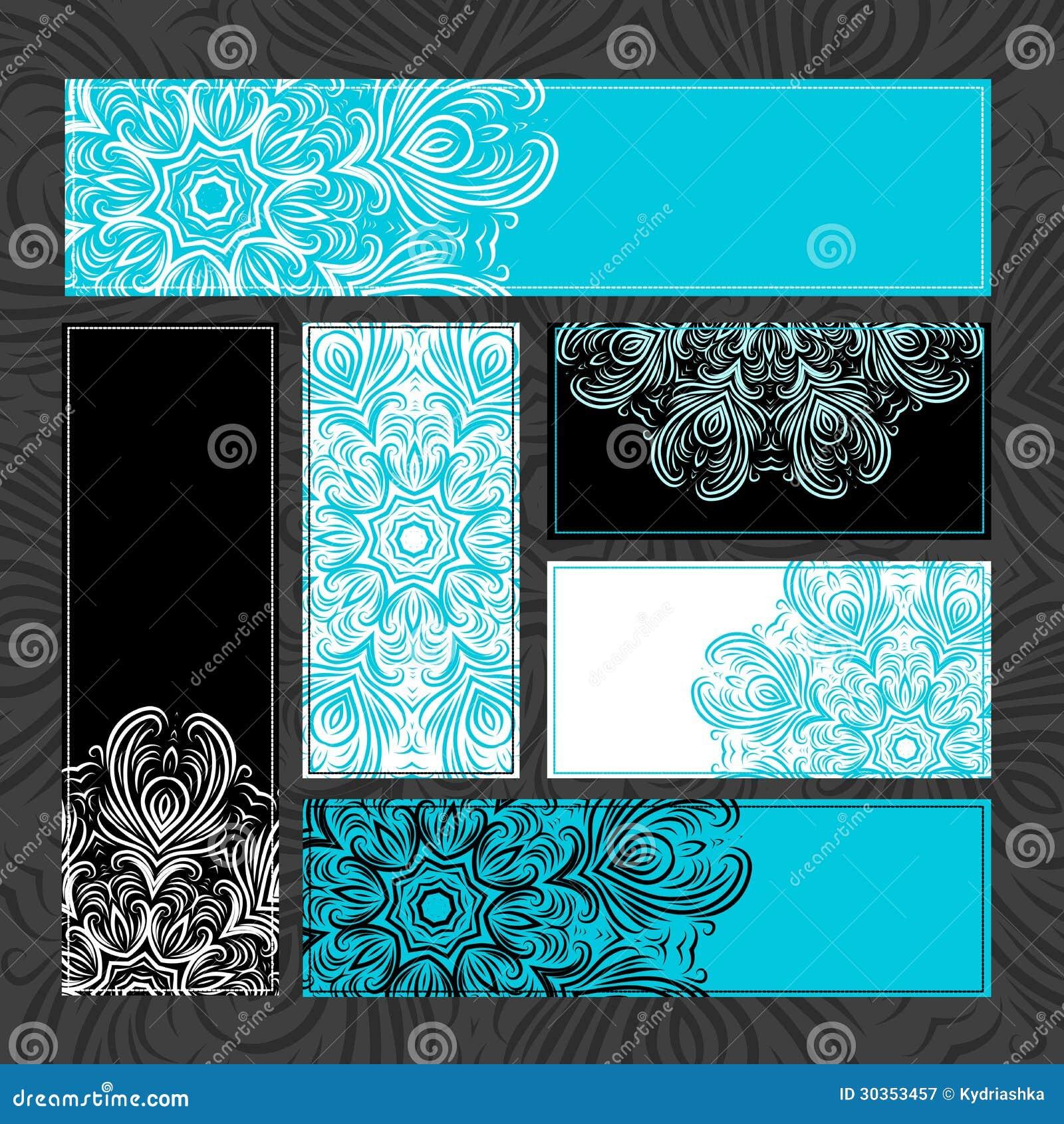 Tarjetas ornamentales del vintage para su dise o - Disenos para tarjetas ...