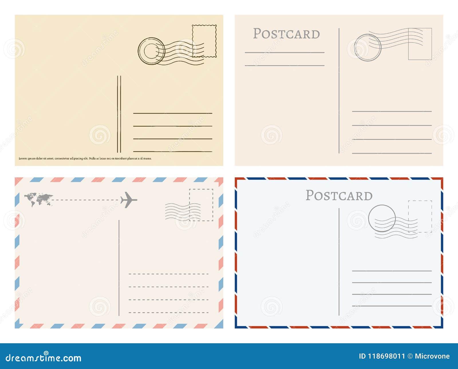Tarjetas Postales De Papel Del Vintage Saludos De La Plantilla Del ...