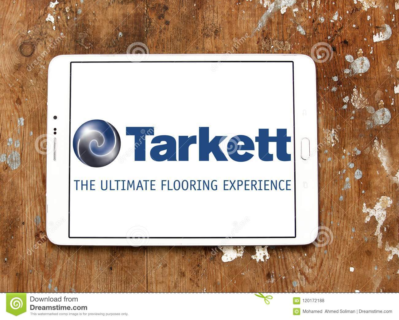 Logo Of Tarkett Company On Samsung Tablet Is A French Multinational Corporation Specialising In The Production Floor And Wall Coverings