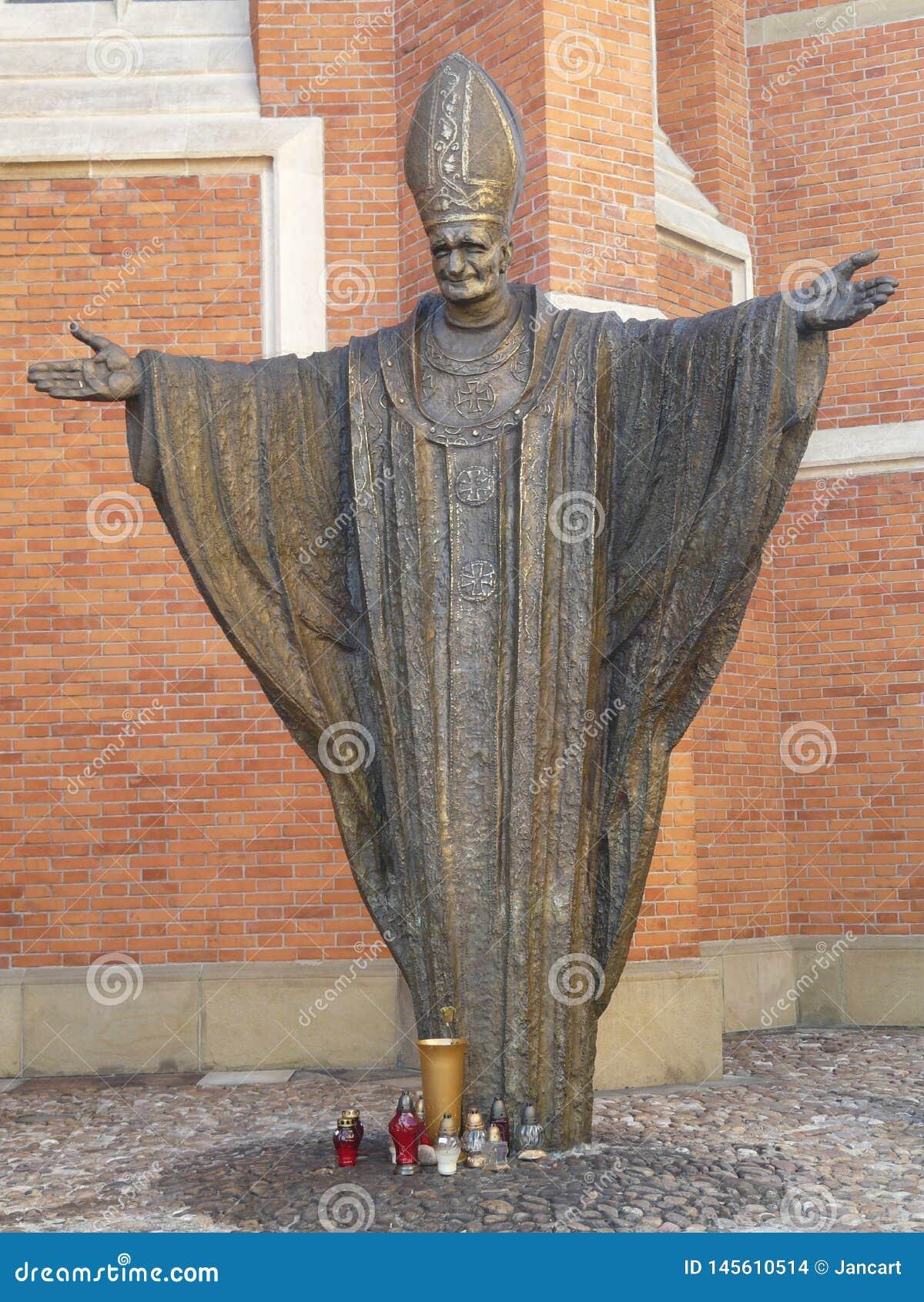 TARNOW-monument van John Paul II, Polen