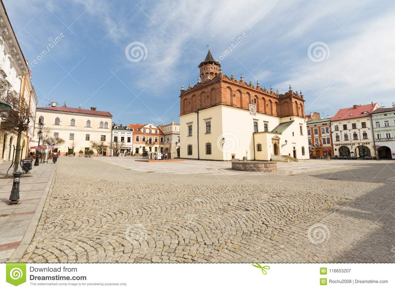 Download Tarnow View Of The Historic Old Town Editorial Photography
