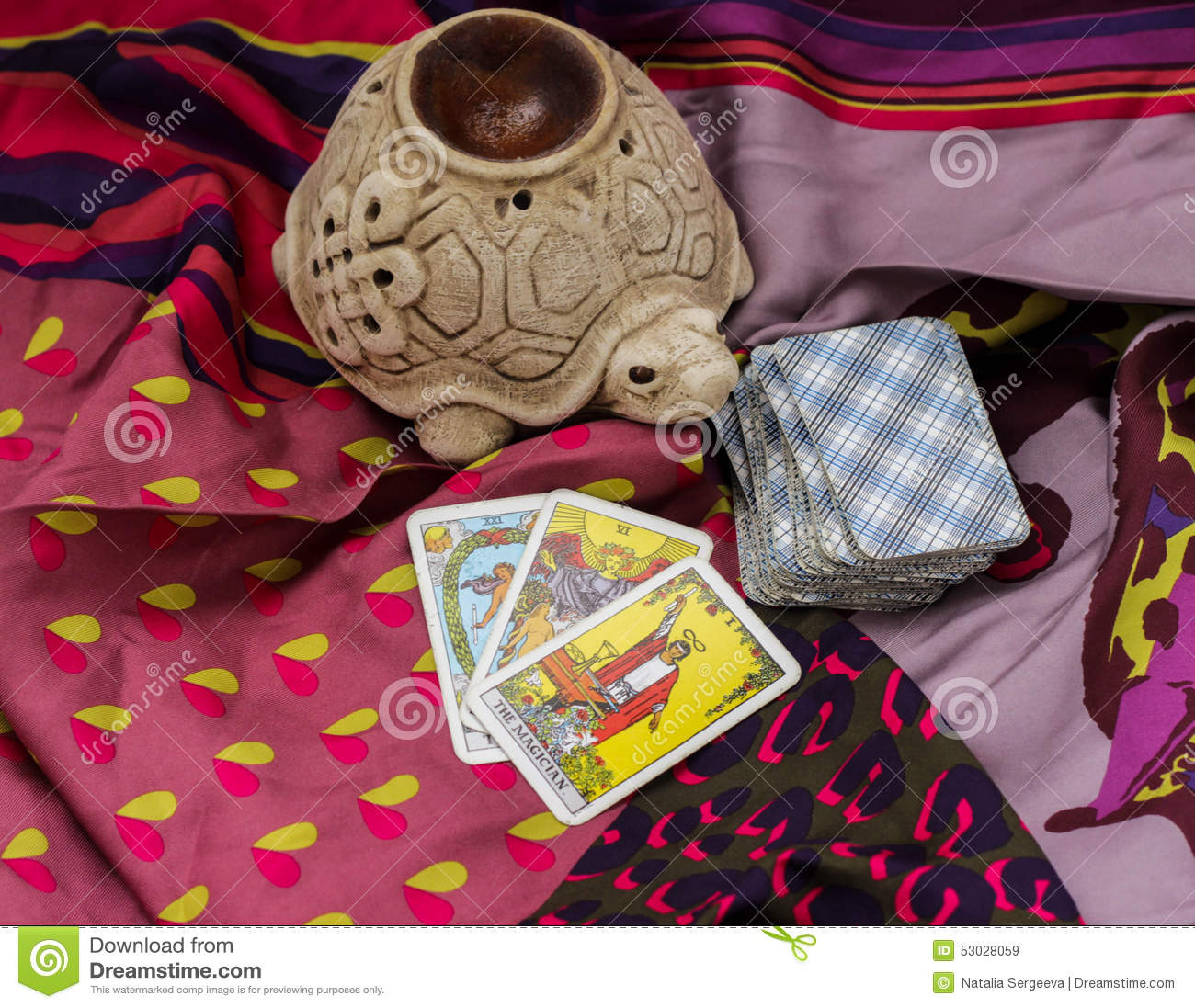 Taro cards stock image  Image of moon, magical, cult - 53028059