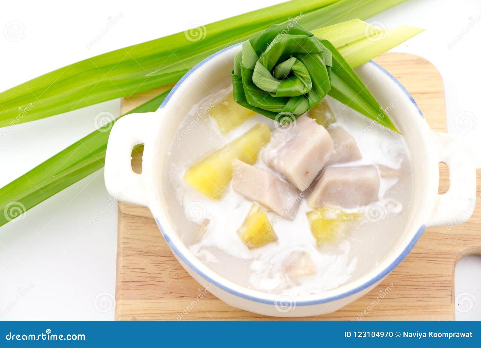 Taro i batat w Słodkim Kokosowym mleku