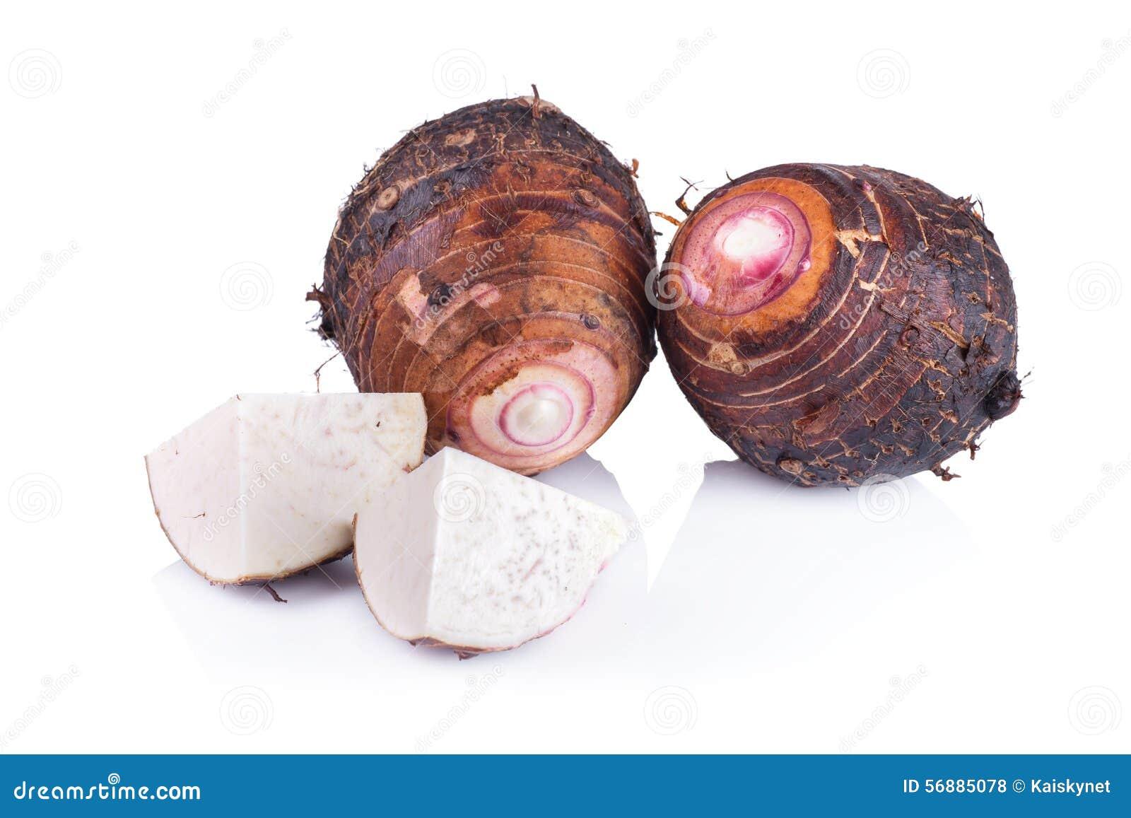 Taro su fondo bianco