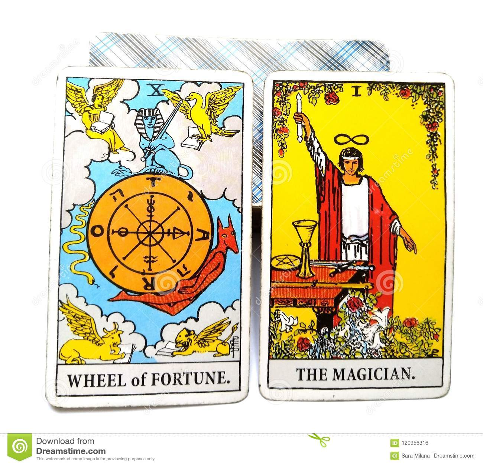 Tarock-Geburts-Karten-Glücksrad der Magier