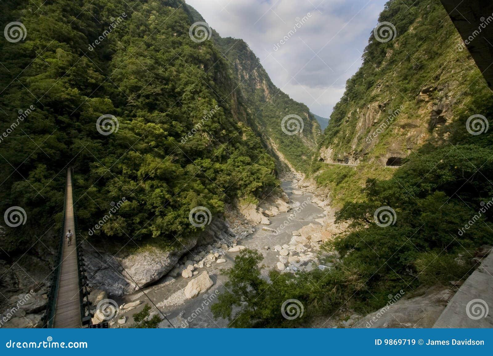 Taroko каньона моста