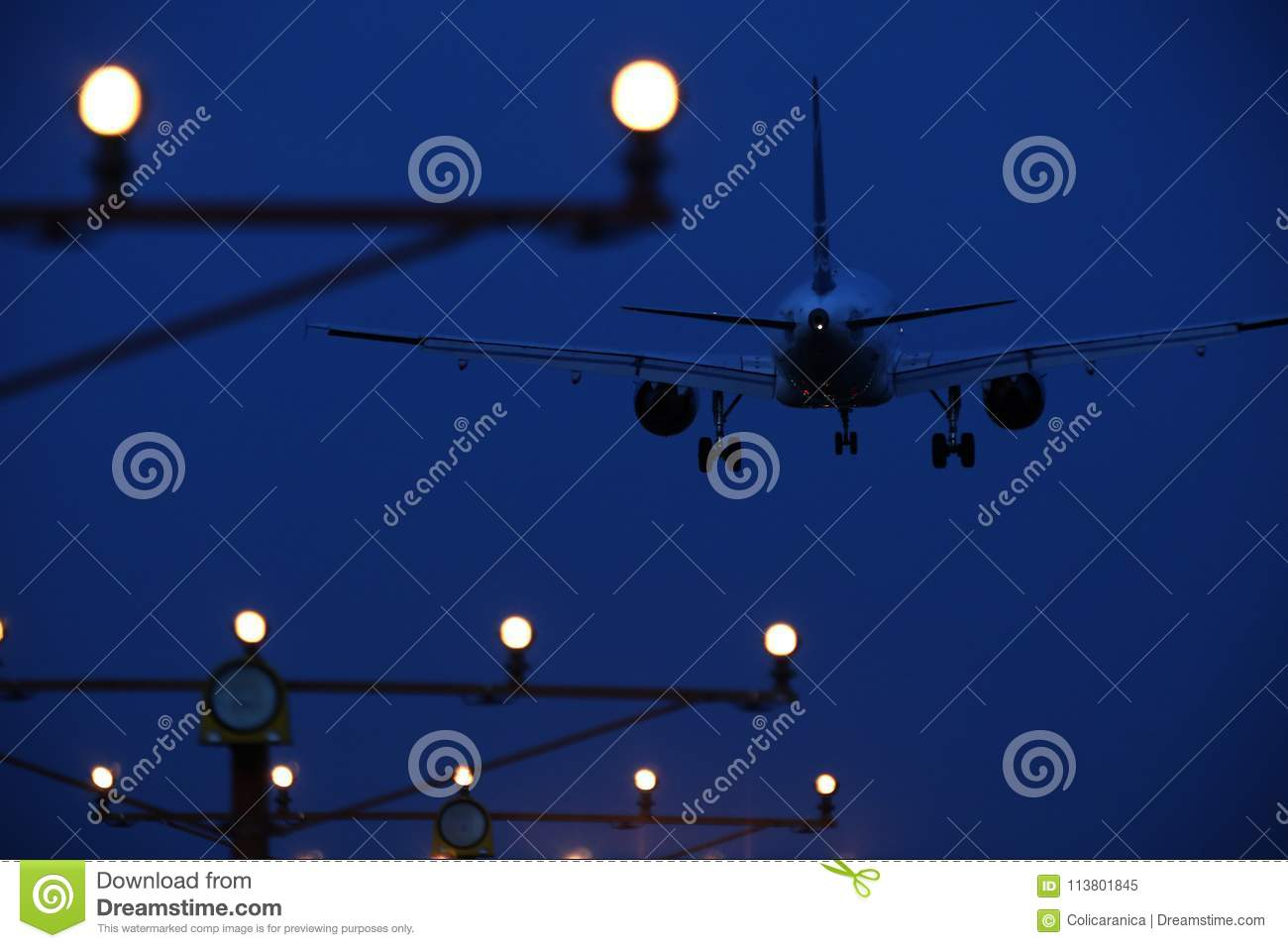 Tarom Plane In The Sky, Landing On Runway Editorial Image - Image of