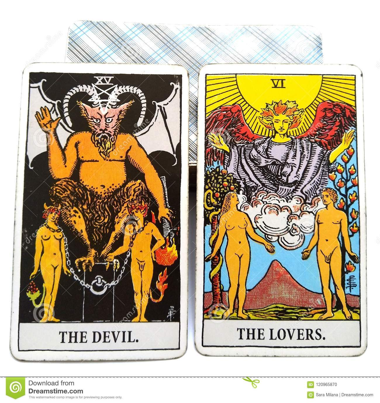 The Devil Tarot Card and Lover Tarot Card - Gerardo Morillo
