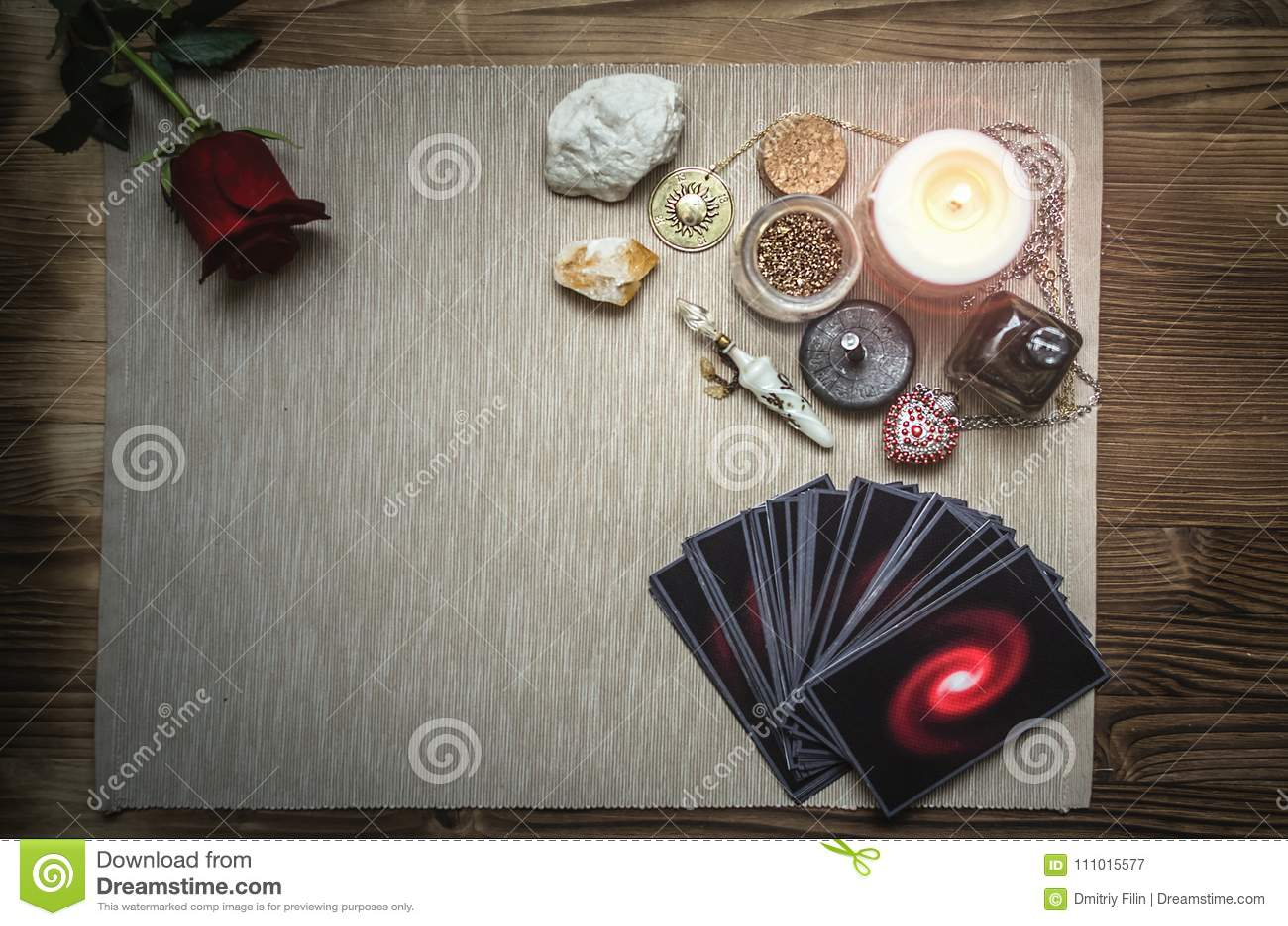 Tarot Cards  Fortune Teller  Divination  Stock Image - Image