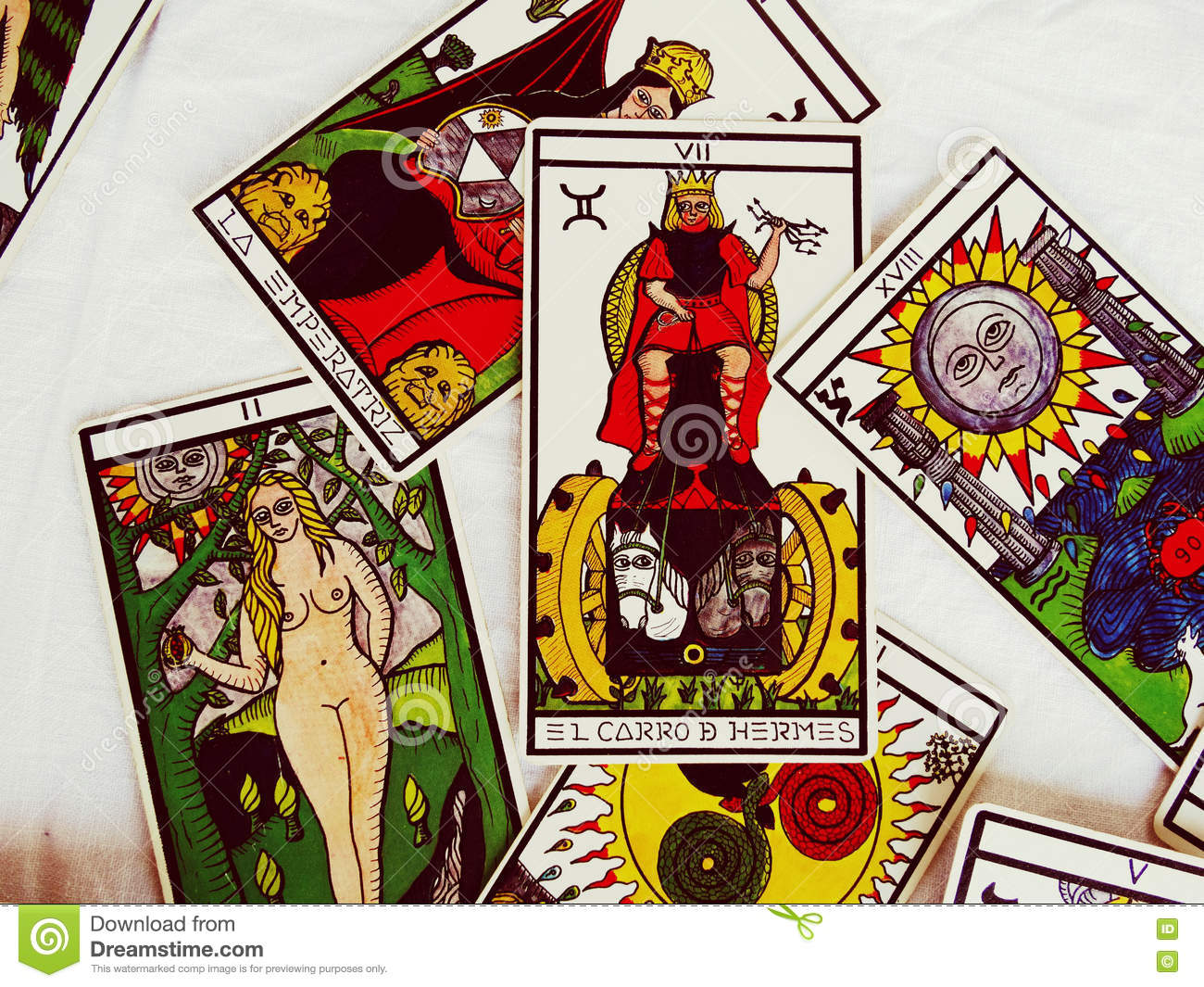 Tarot Cards Group View editorial stock image  Image of vintage