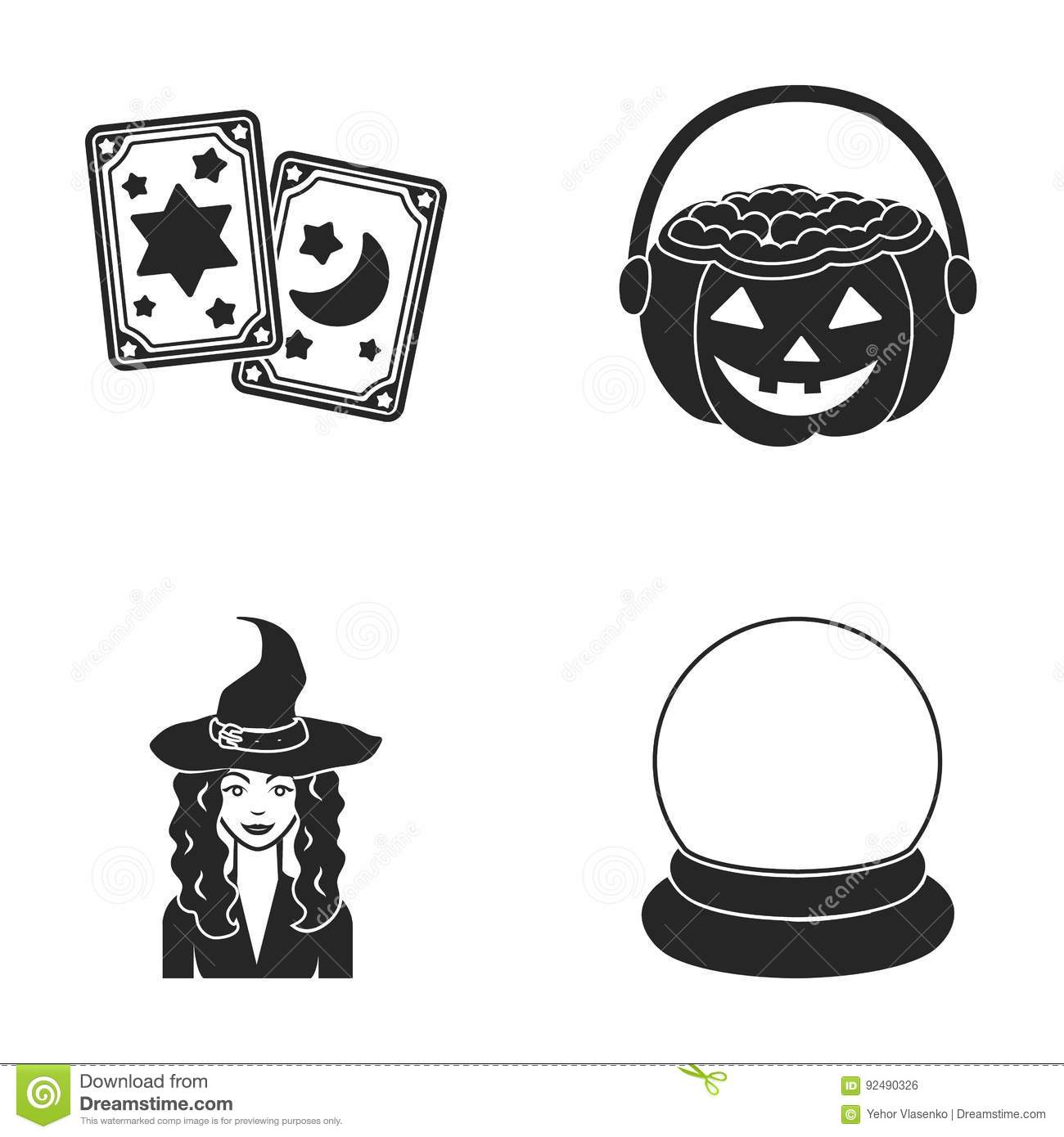 Tarot Cards, Holiday Halloween, Magician In A Hat, Crystal Ball