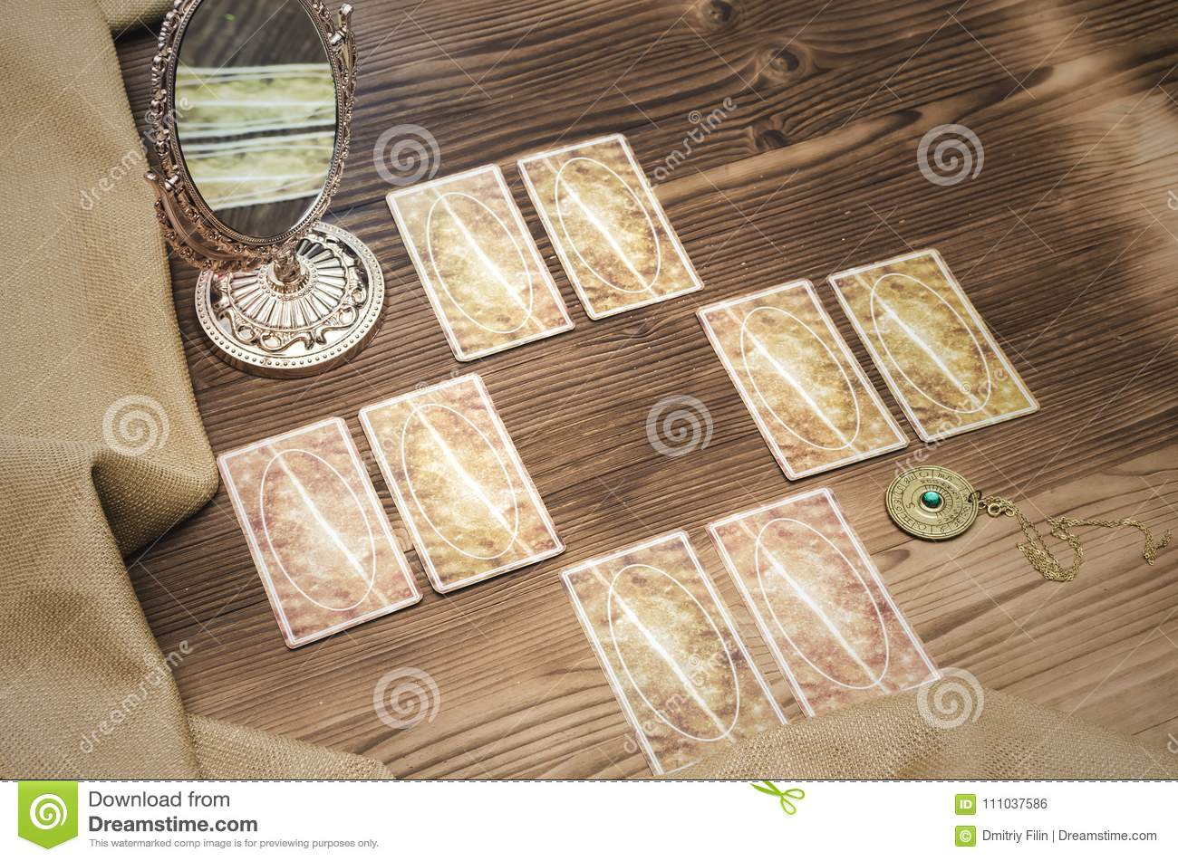 Tarot Cards  Fortune-teller  Stock Photo - Image of cards