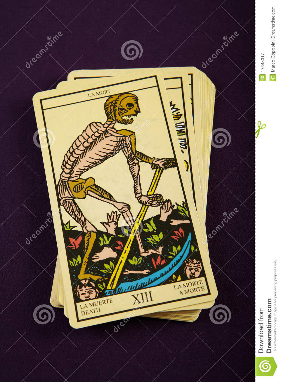 Tarot Death stock image. Image of death, major, game - 17345017