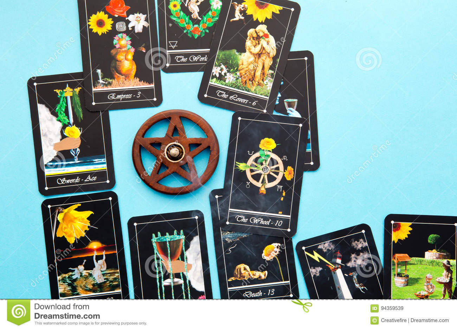 Tarot Deck - Tarot Readings With Wooden Pentagram Incense