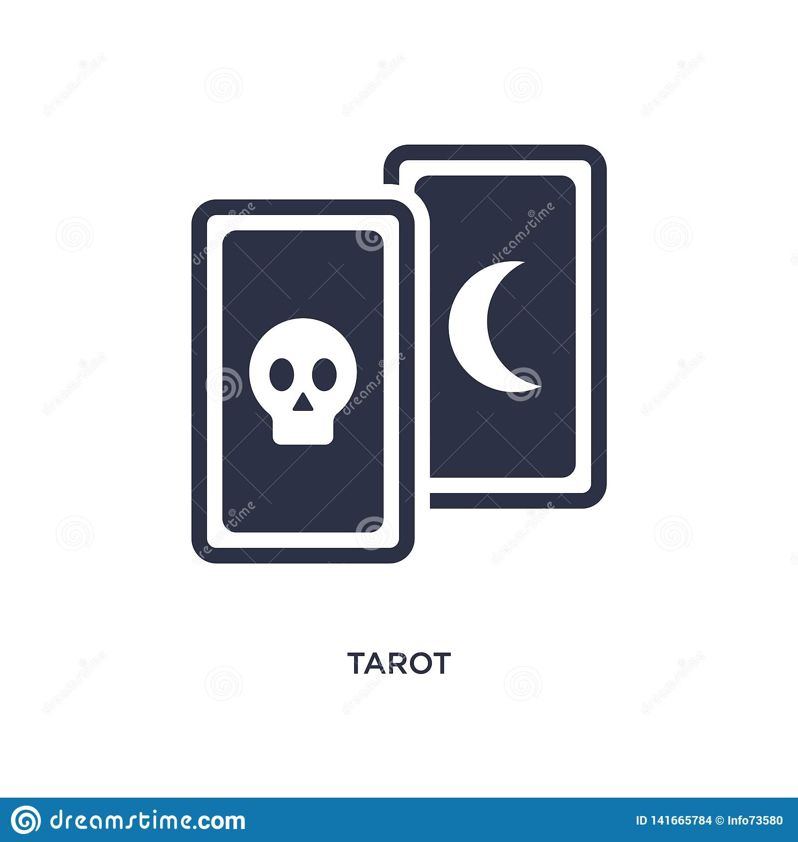 tarot icon on white background. Simple element illustration from magic concept