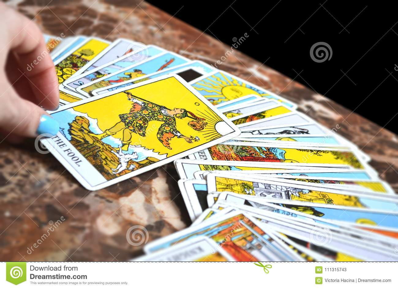 Tarot Reading Cards Thee Fool Tarot Card Stock ...