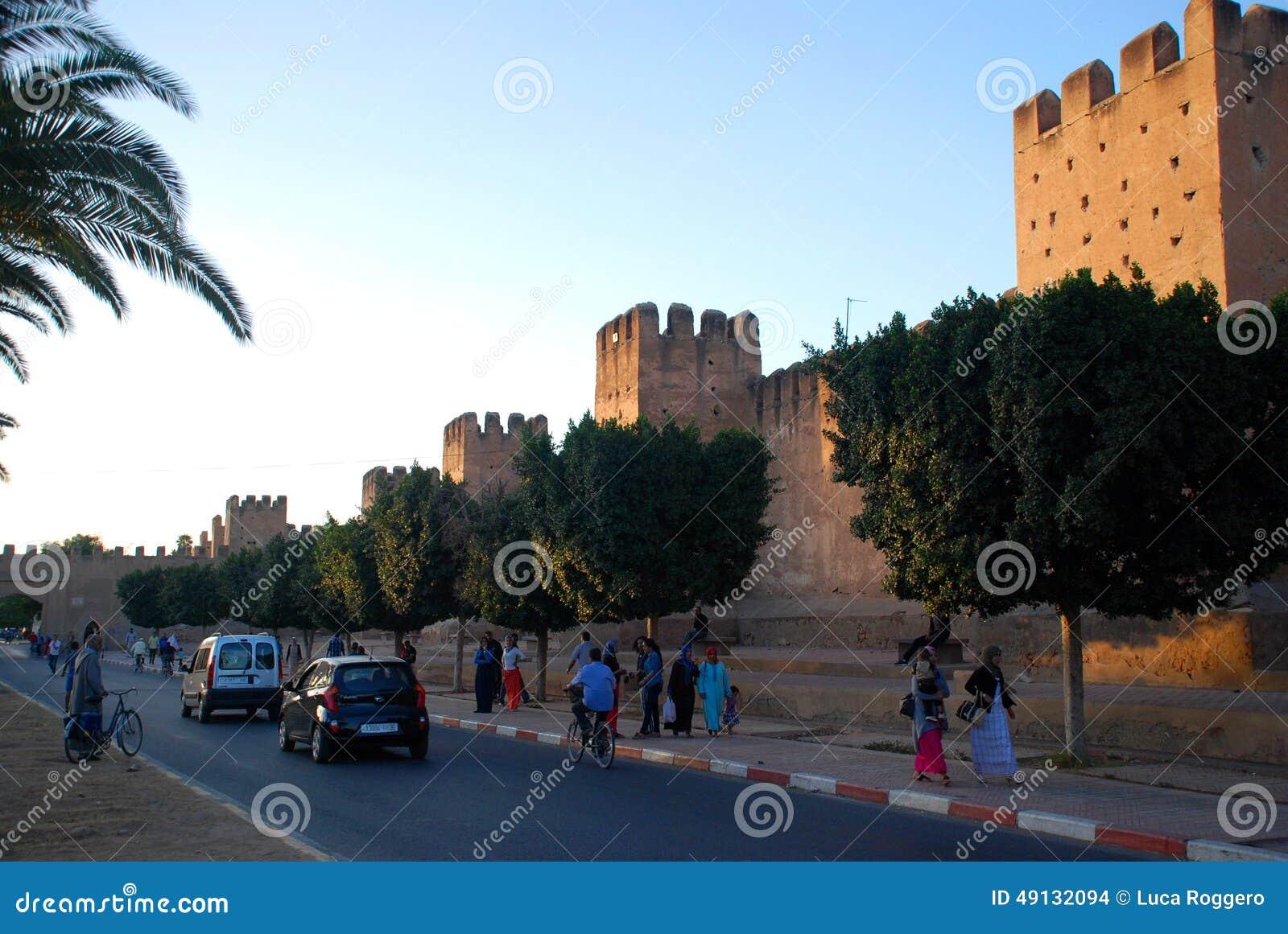 Taroudant s defensywy ściana Souss-Massa-Drâa Maroko