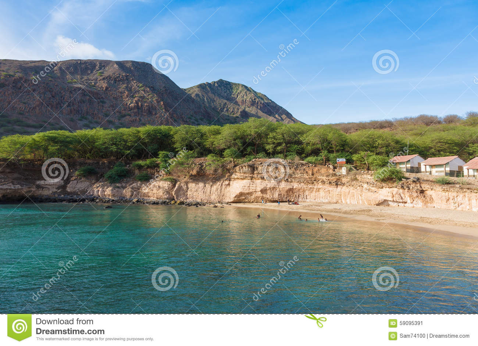 tarrafal beach in santiago island in cape verde cabo. Black Bedroom Furniture Sets. Home Design Ideas