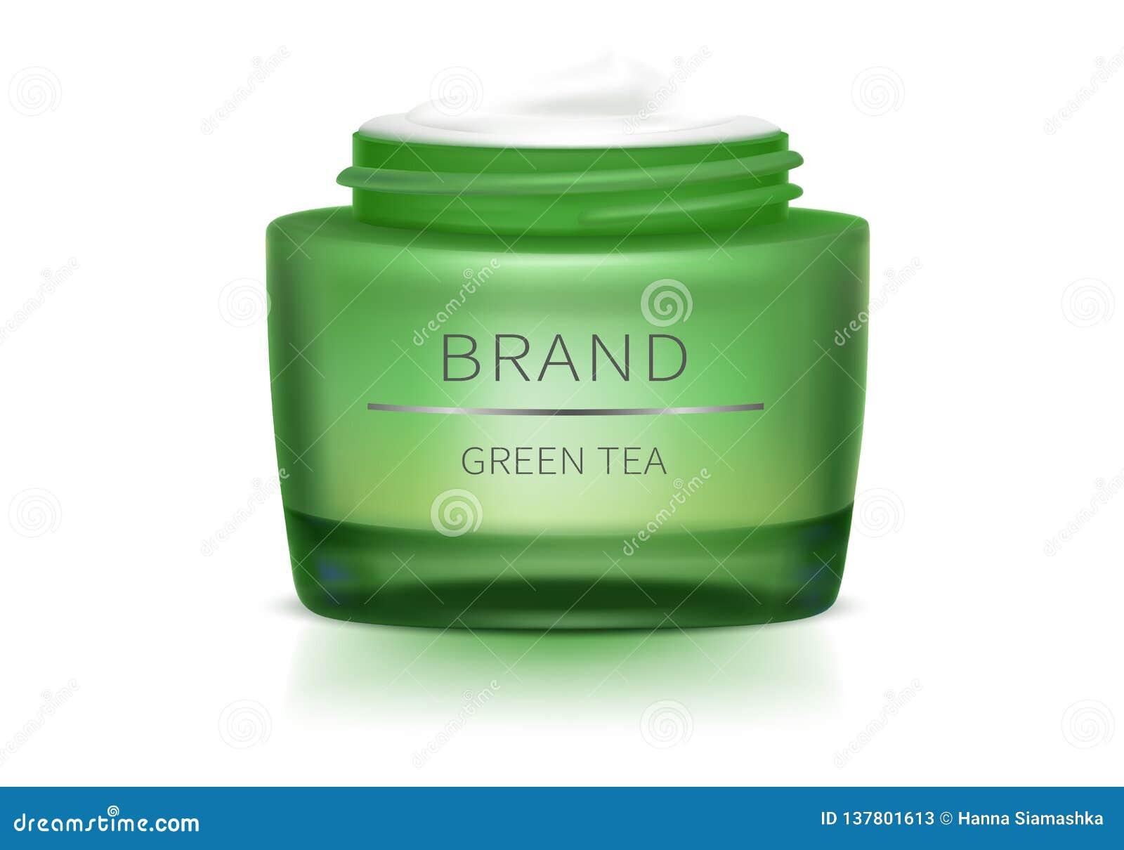 Tarro de cristal abierto verde