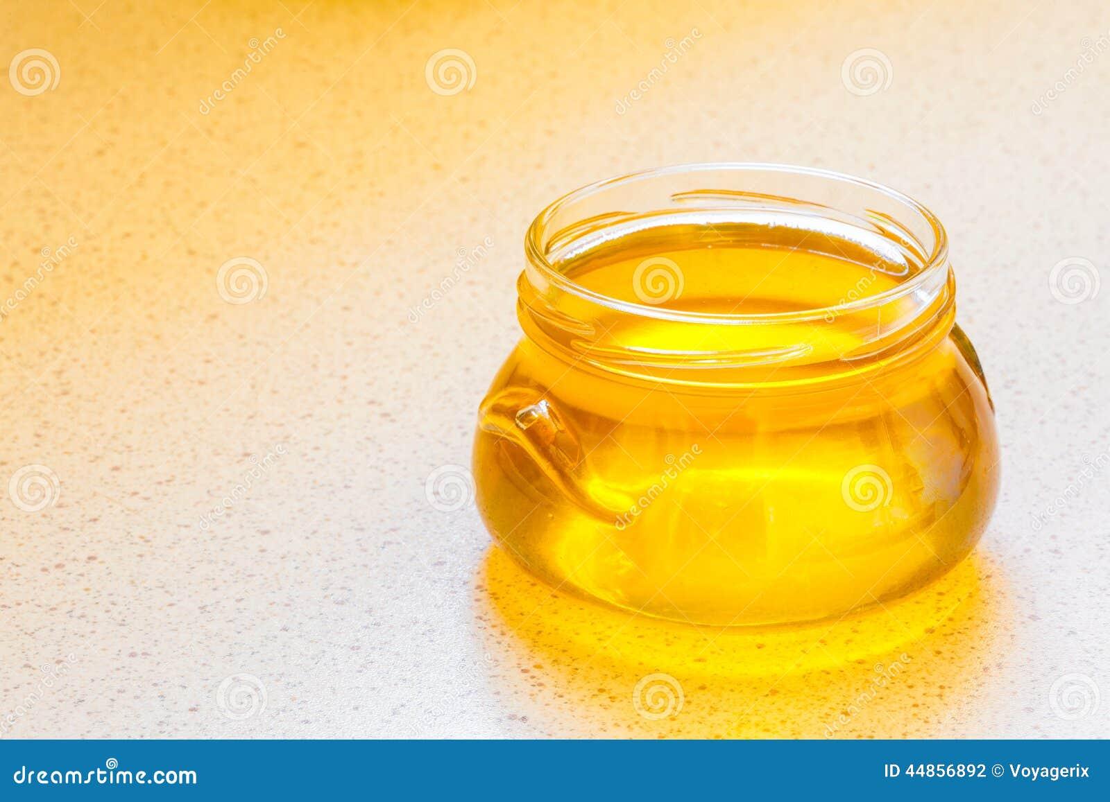 Tarro de miel floral orgánica