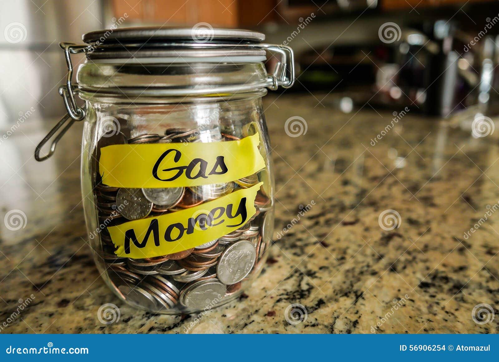 Tarro del dinero del gas