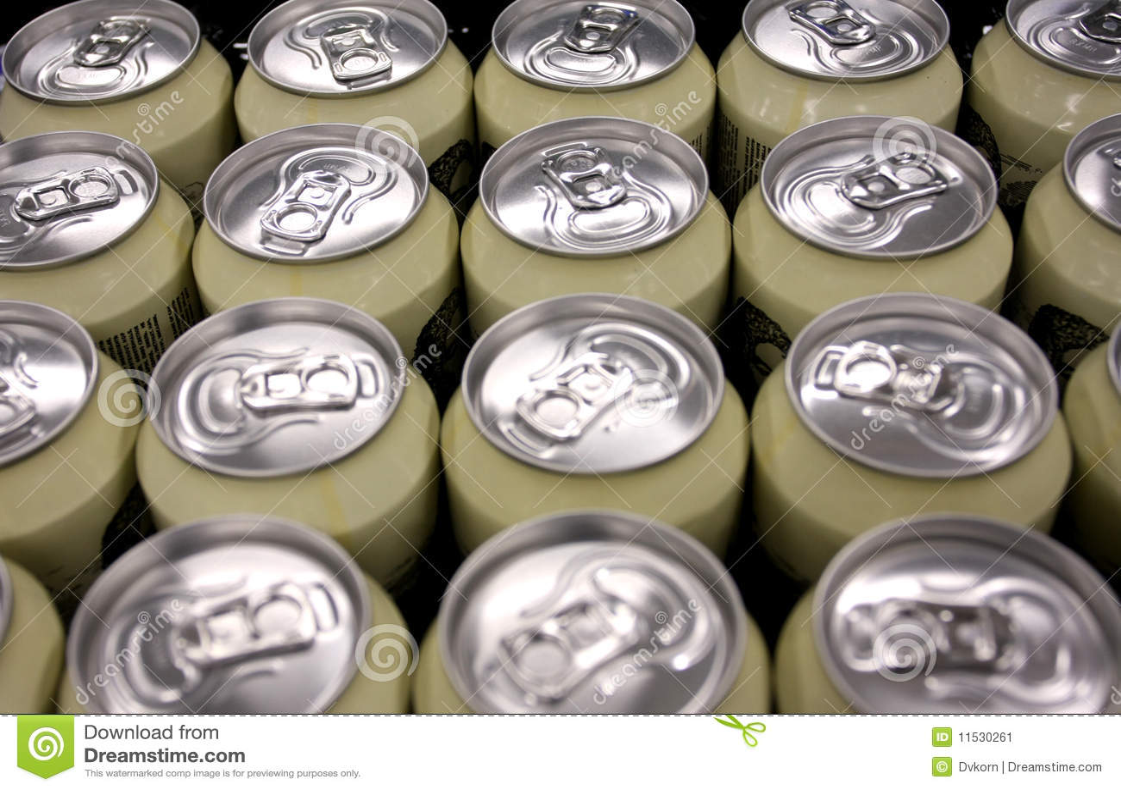 Tarros Del Aluminio De La Cerveza Imagen De Archivo