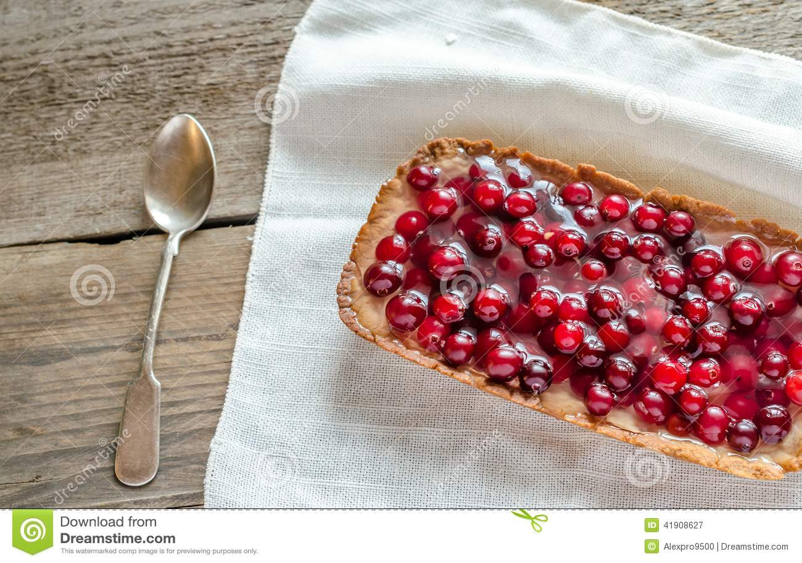 Tarta con los arándanos frescos gelatinados