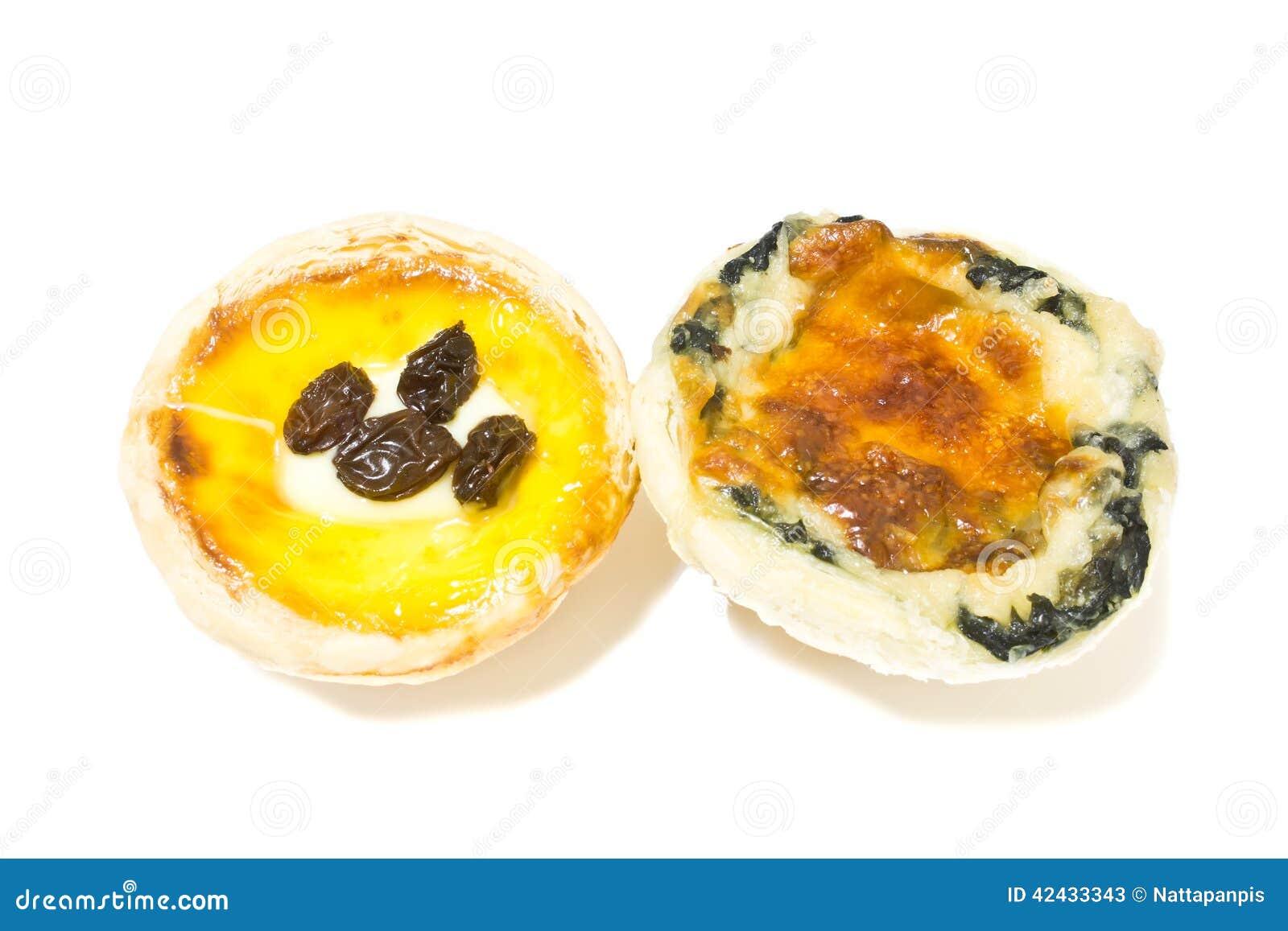 Tarta de la espinaca y tarta de la pasa