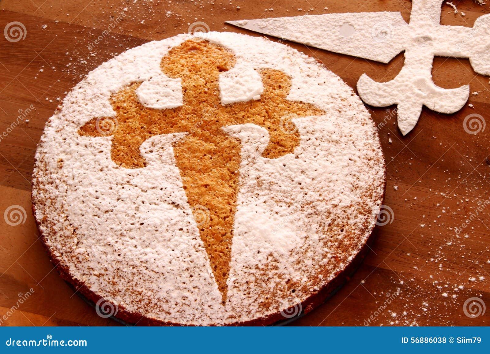 Tarta De Santiago - gâteau d amande