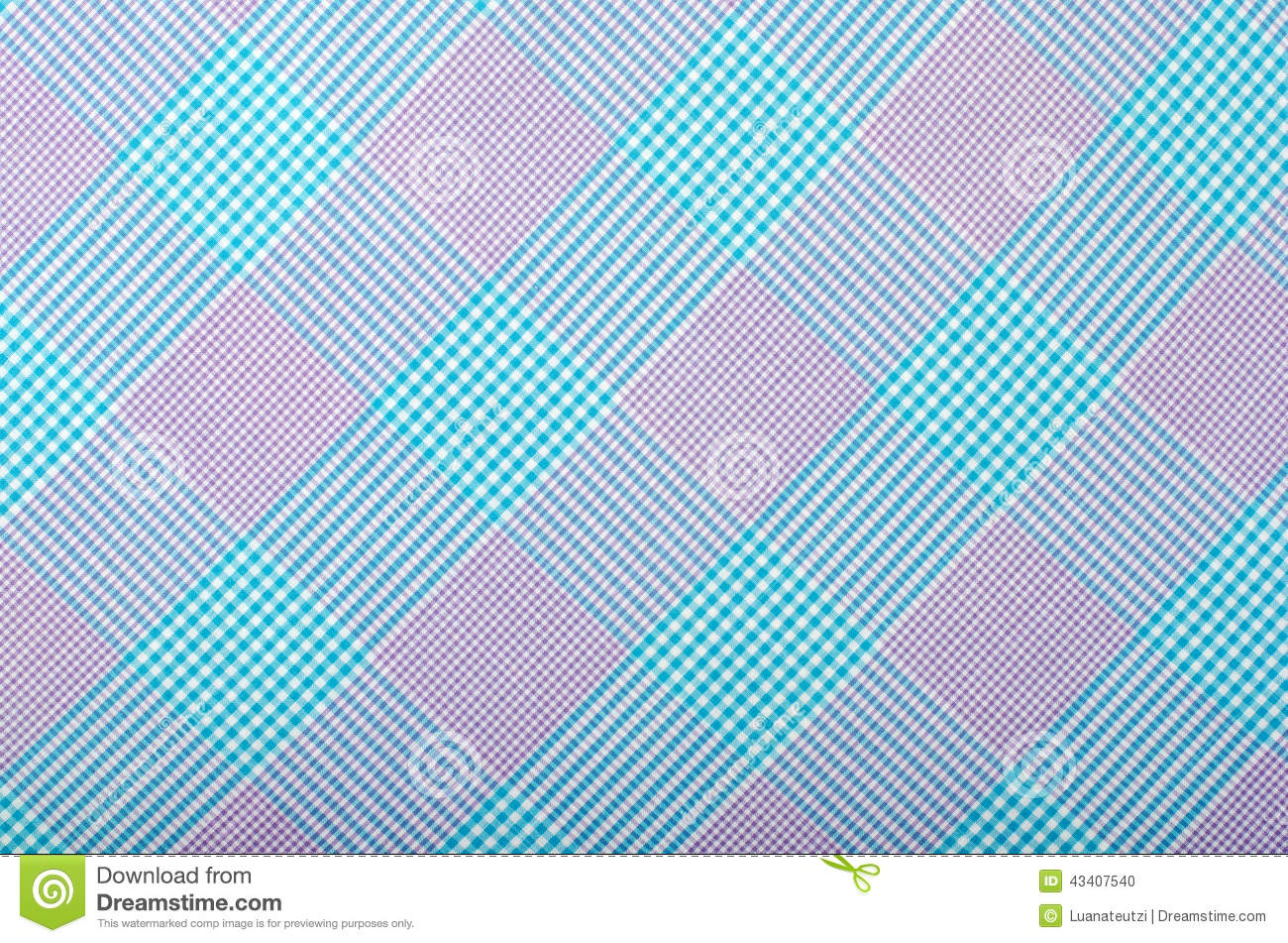 Tartan Pattern.Purple And Turquoise Blue Plaid Print As Background.