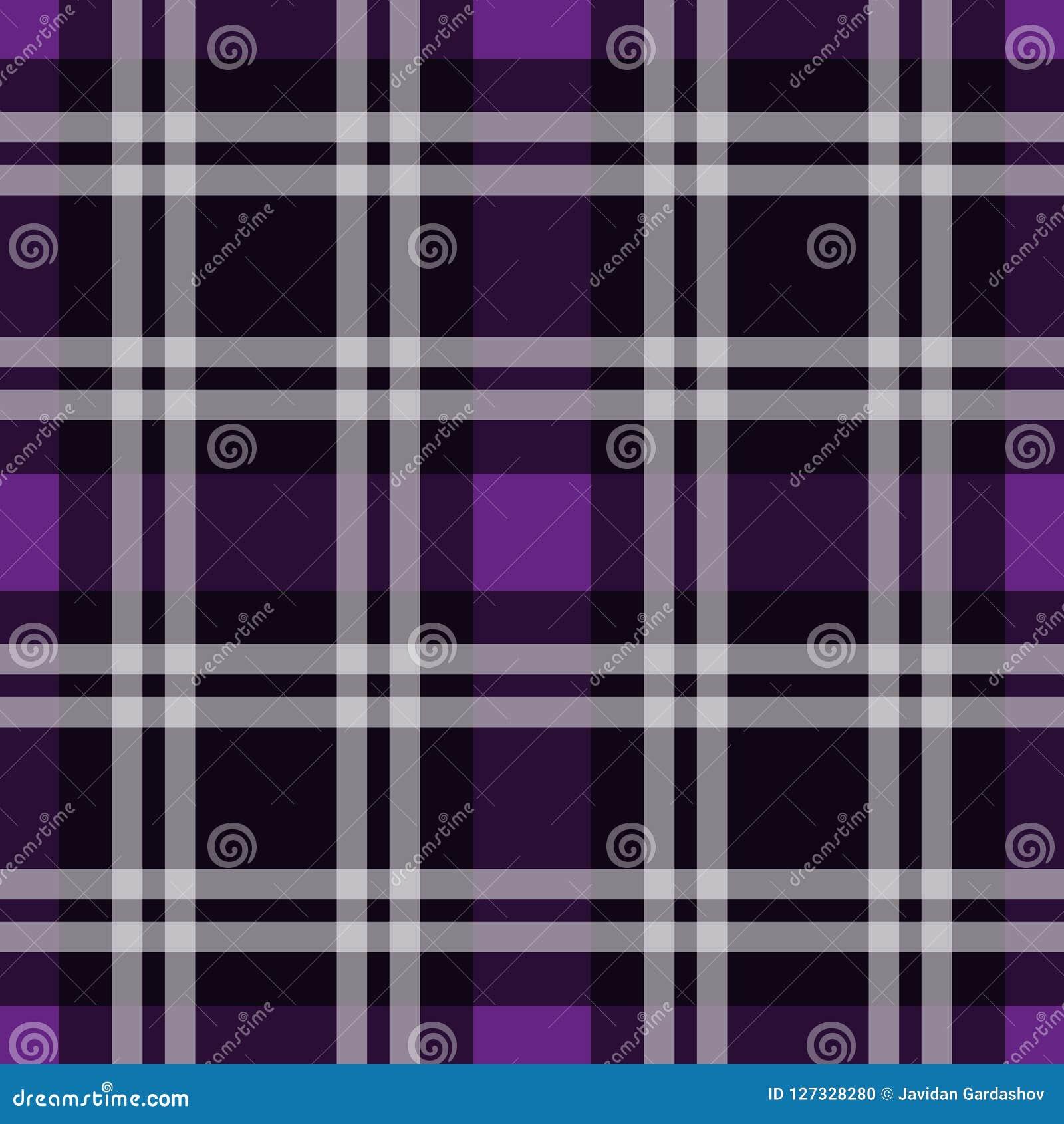 Tartanu wzór, Szkocka tradycyjna tkanina bezszwowa Purpurowy i Ultrafioletowy na purpurowym tle, Pantone styl