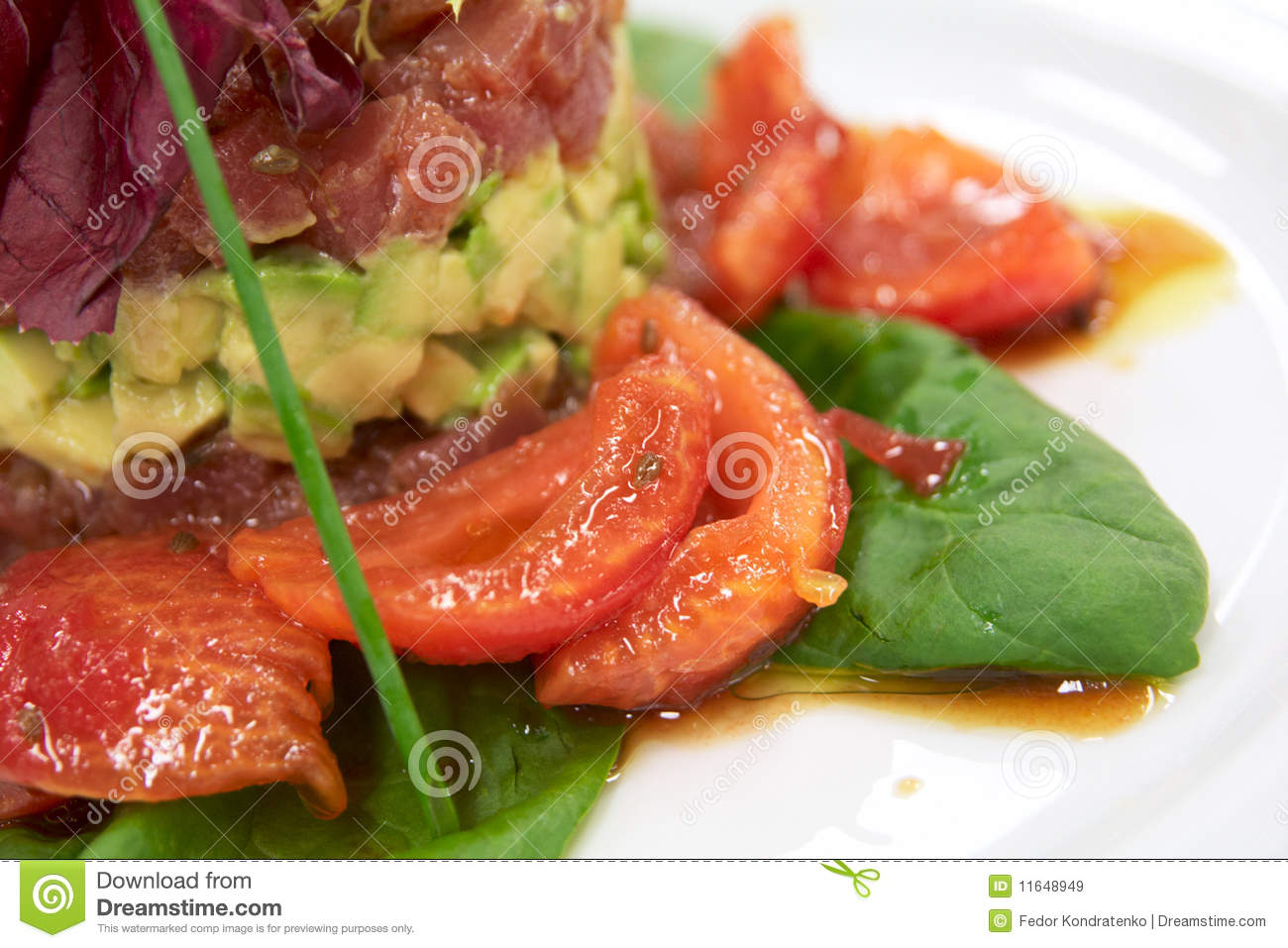 Tartar With Tuna, Avocado And Tomatos Royalty Free Stock Images ...