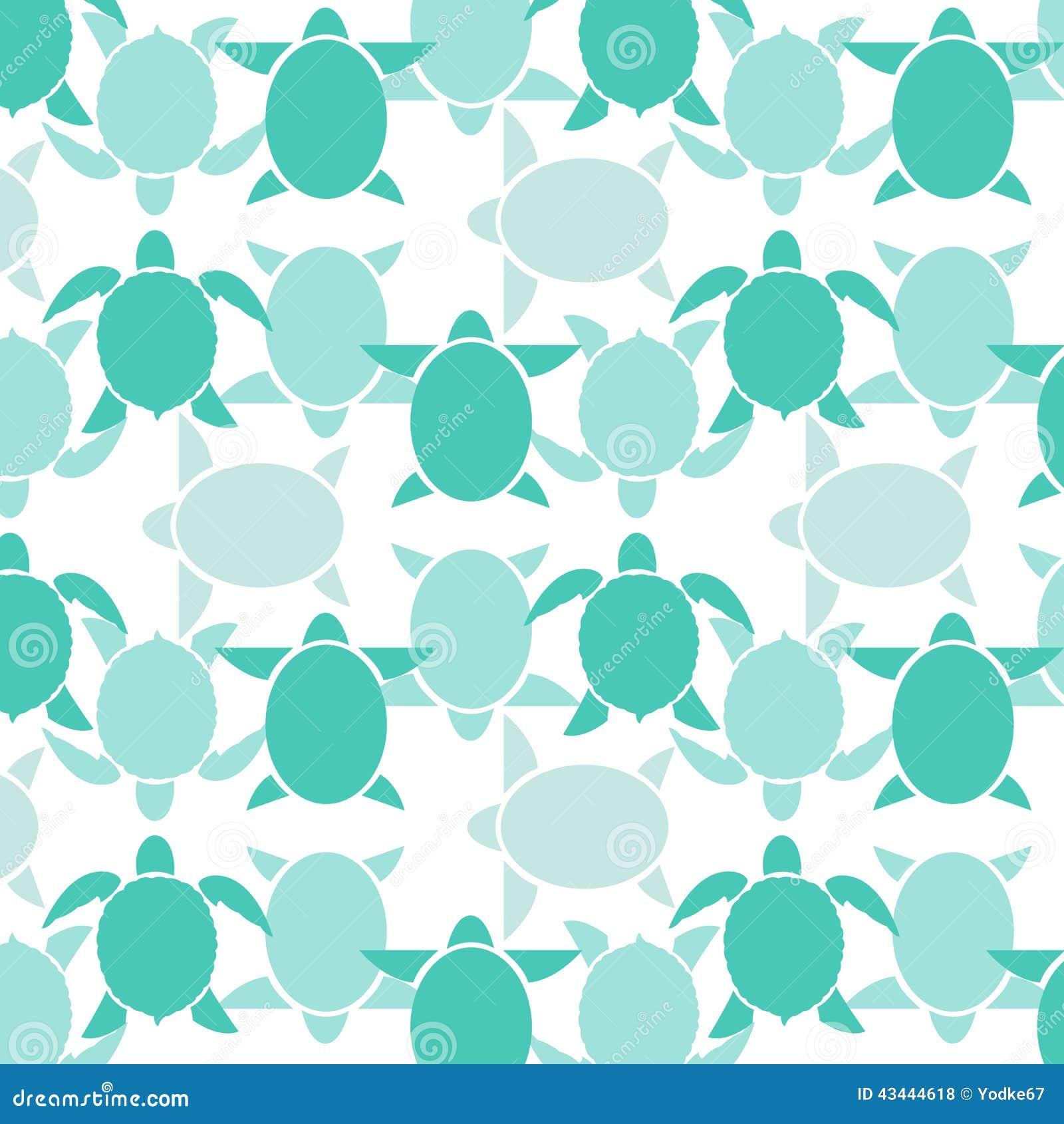 Tartaruga sem emenda do azul do papel de parede ilustra o for Papel decorativo azul