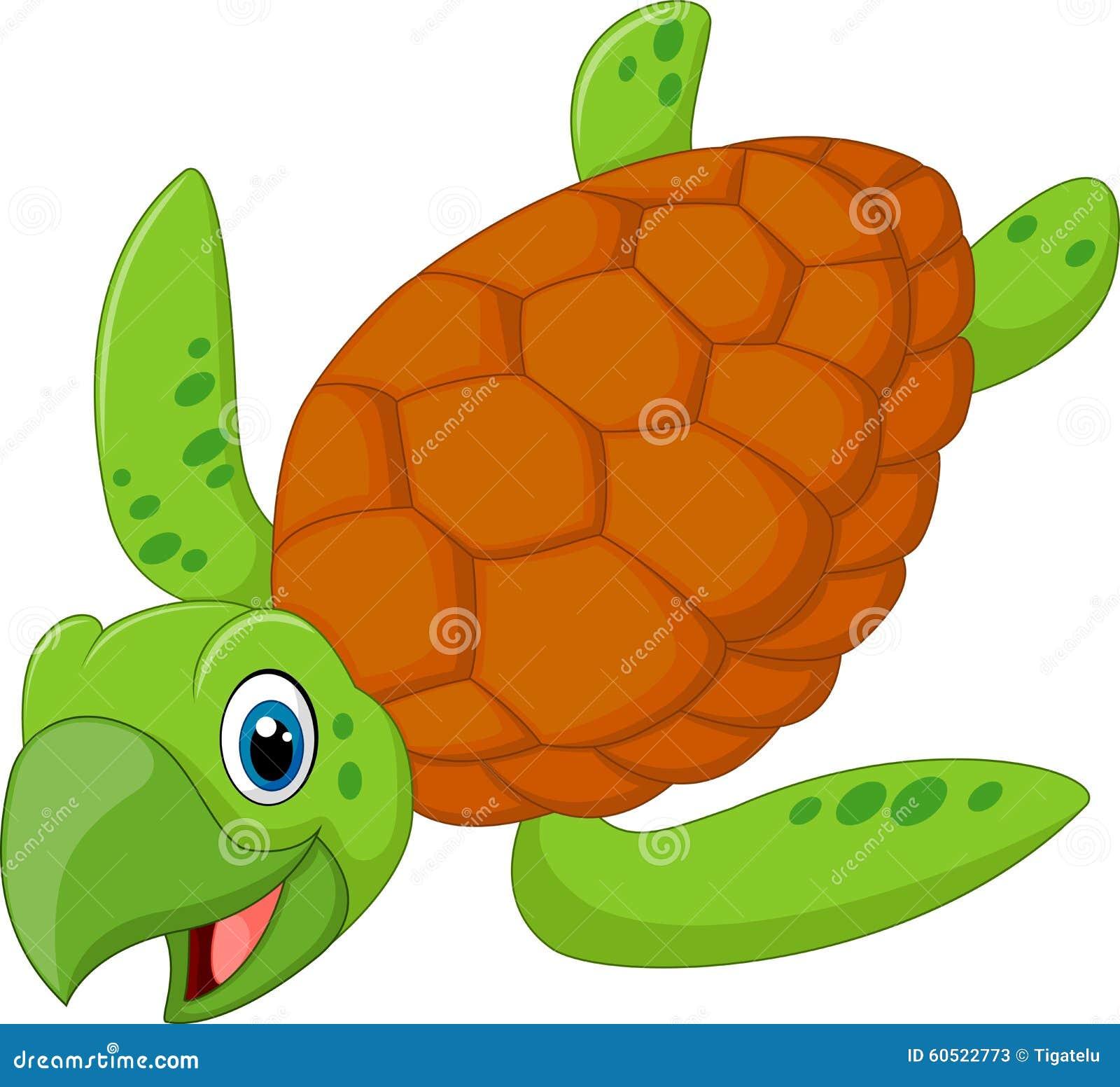 Tartaruga sorridente del fumetto illustrazione vettoriale