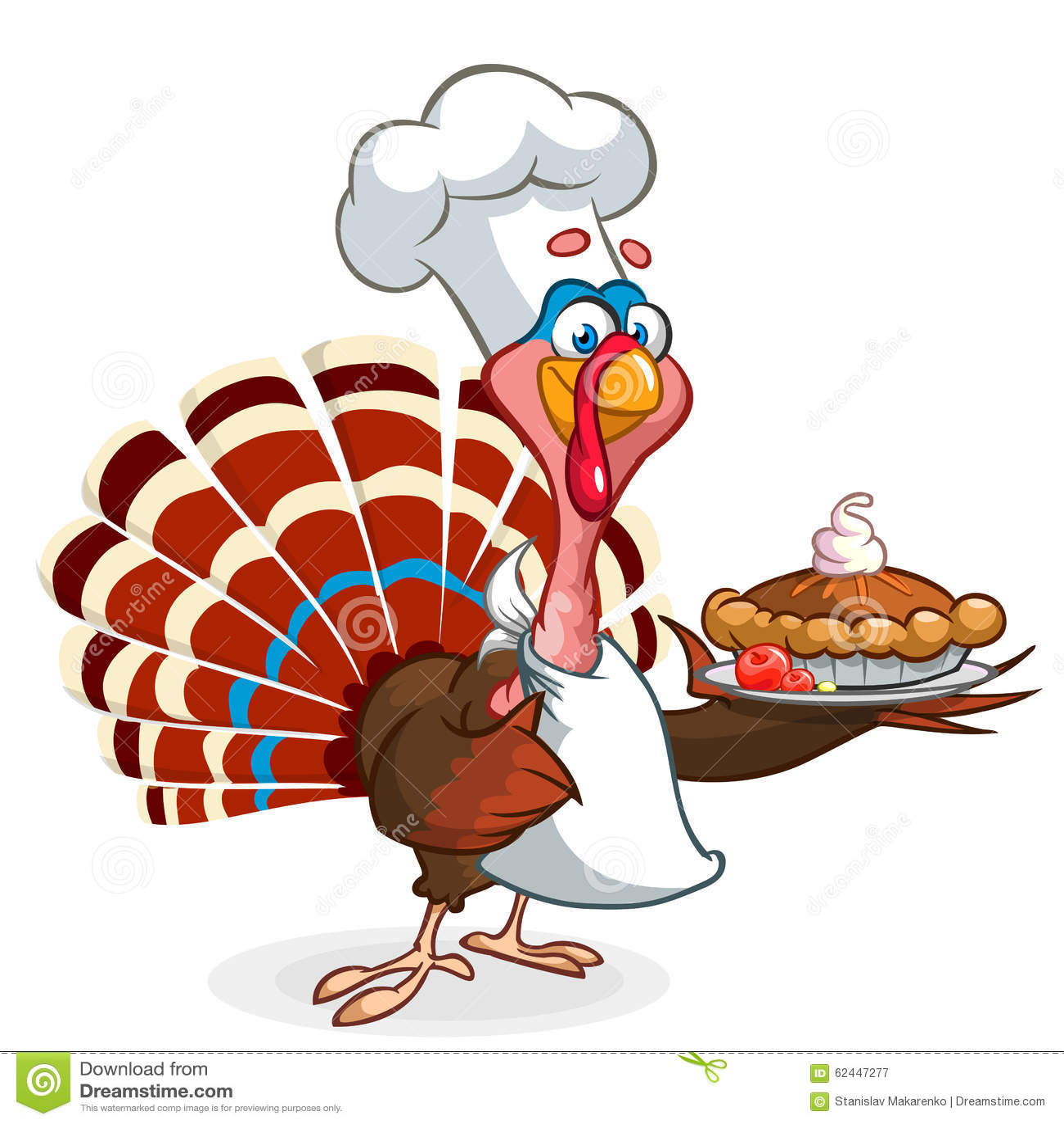 tarte de potiron en chef de portion de cuisinier de dinde de thanksgiving illustration de. Black Bedroom Furniture Sets. Home Design Ideas