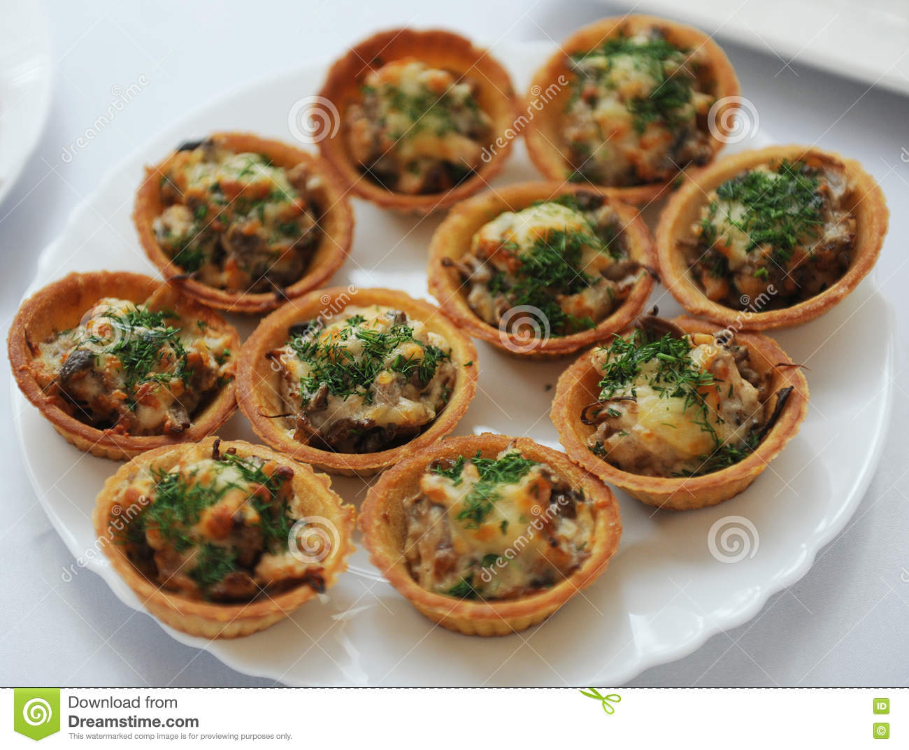 Tartlets With Chicken Salad And Herbs Stock Photo Image Of Chicken