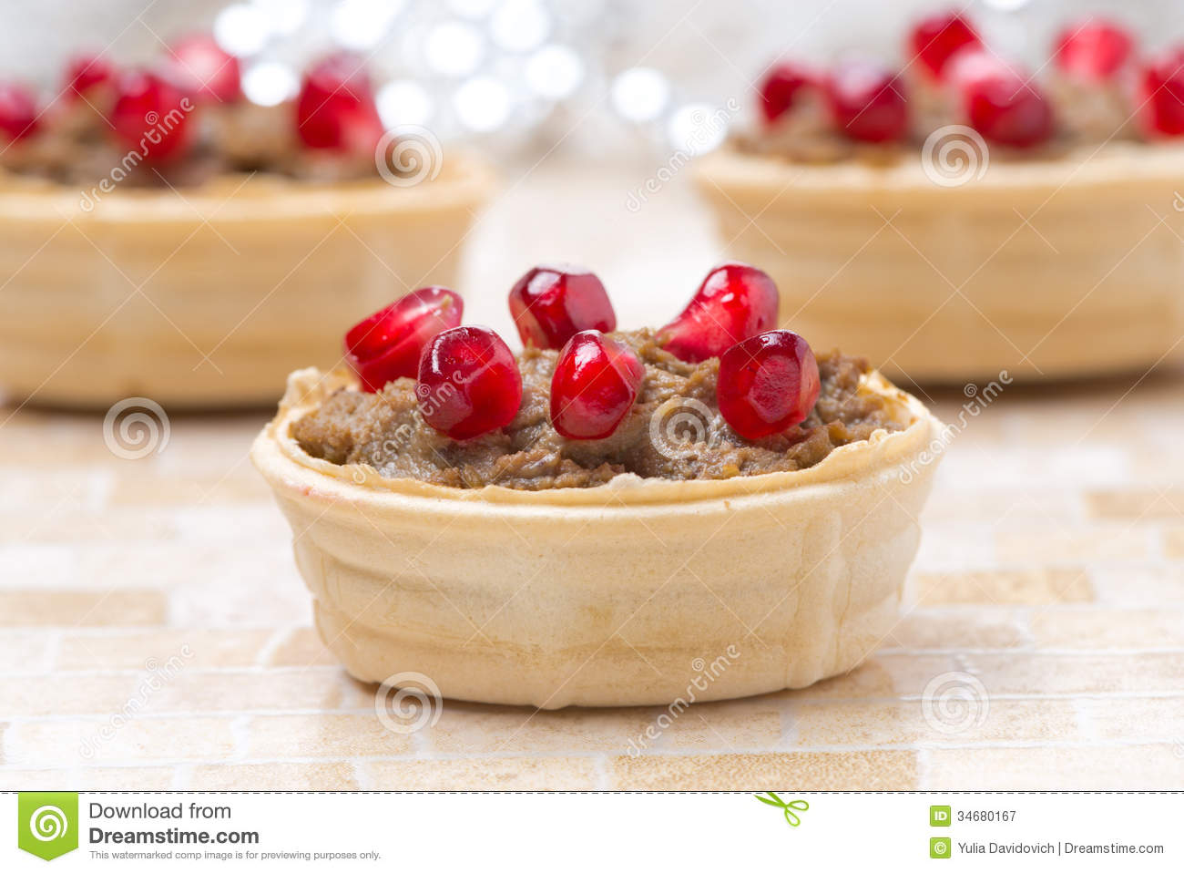 Tartlets With Liver Pate And Pomegranate Seeds For ...
