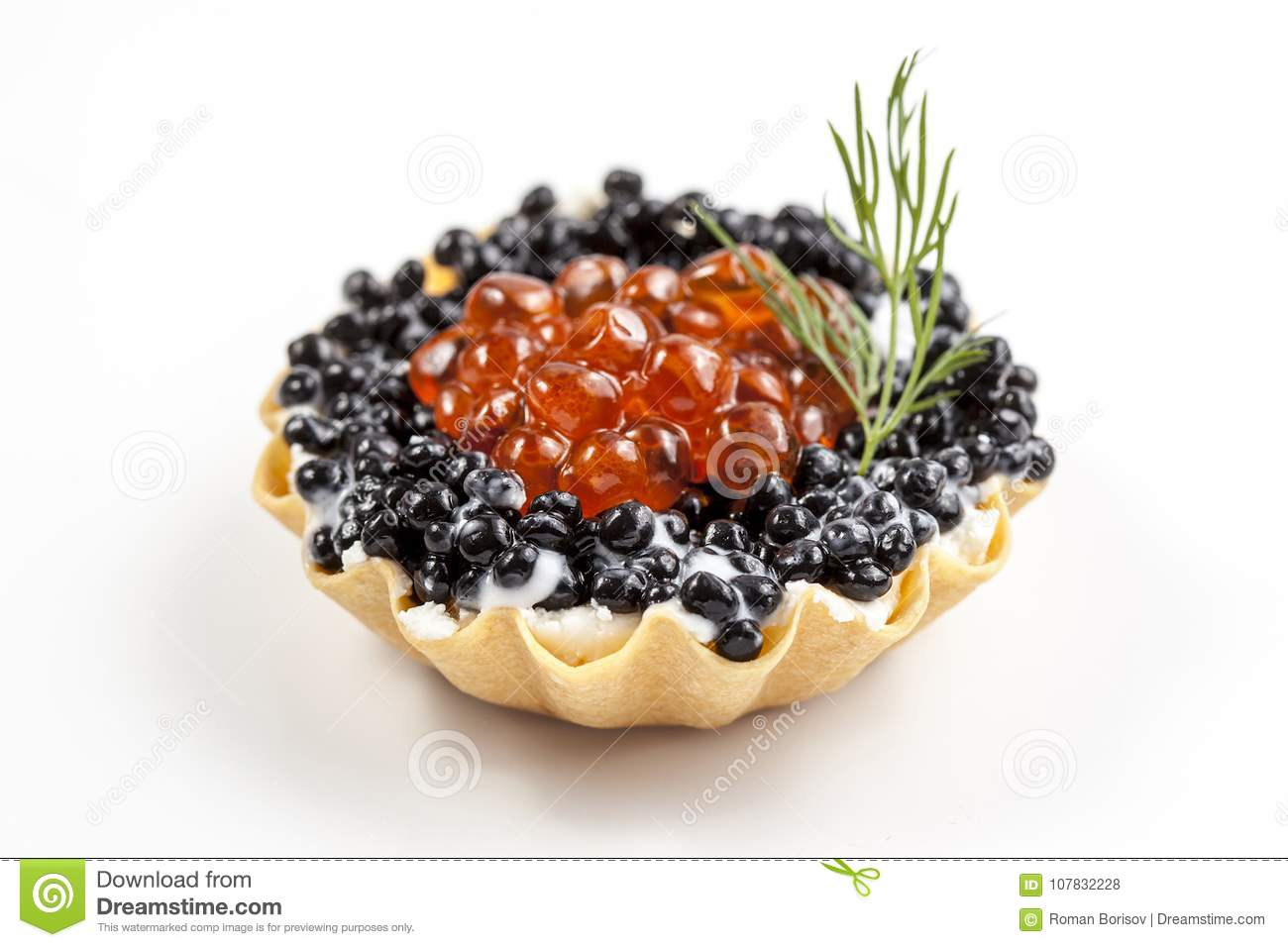 Tartlets with caviar. How to cook tartlets with red caviar 73