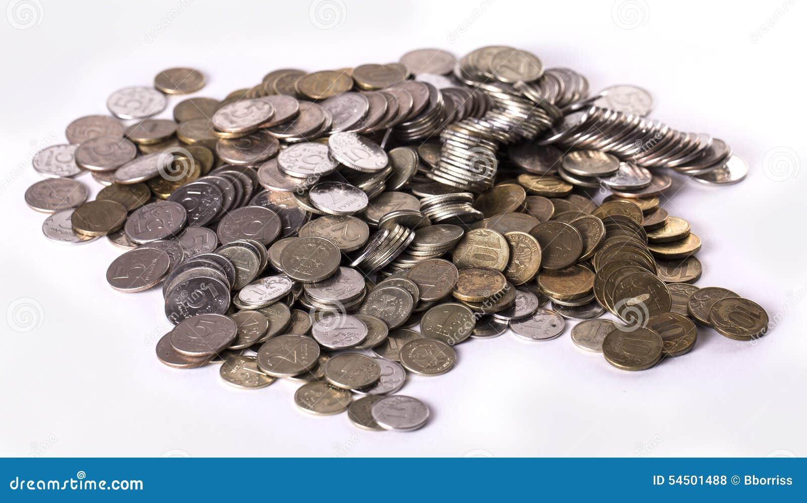 Tas d argent de Russe en métal