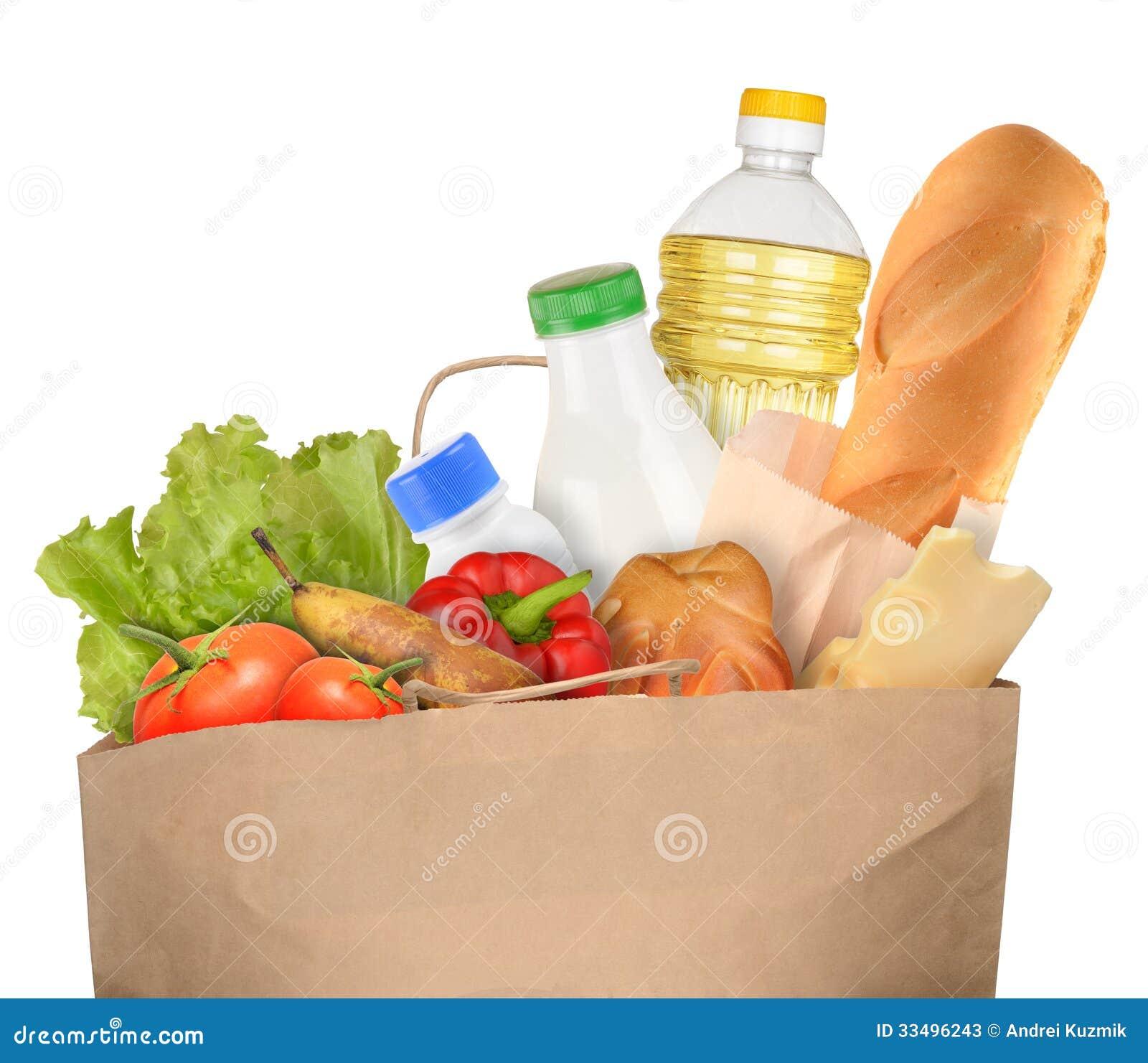 Tasche von Lebensmittelgeschäften