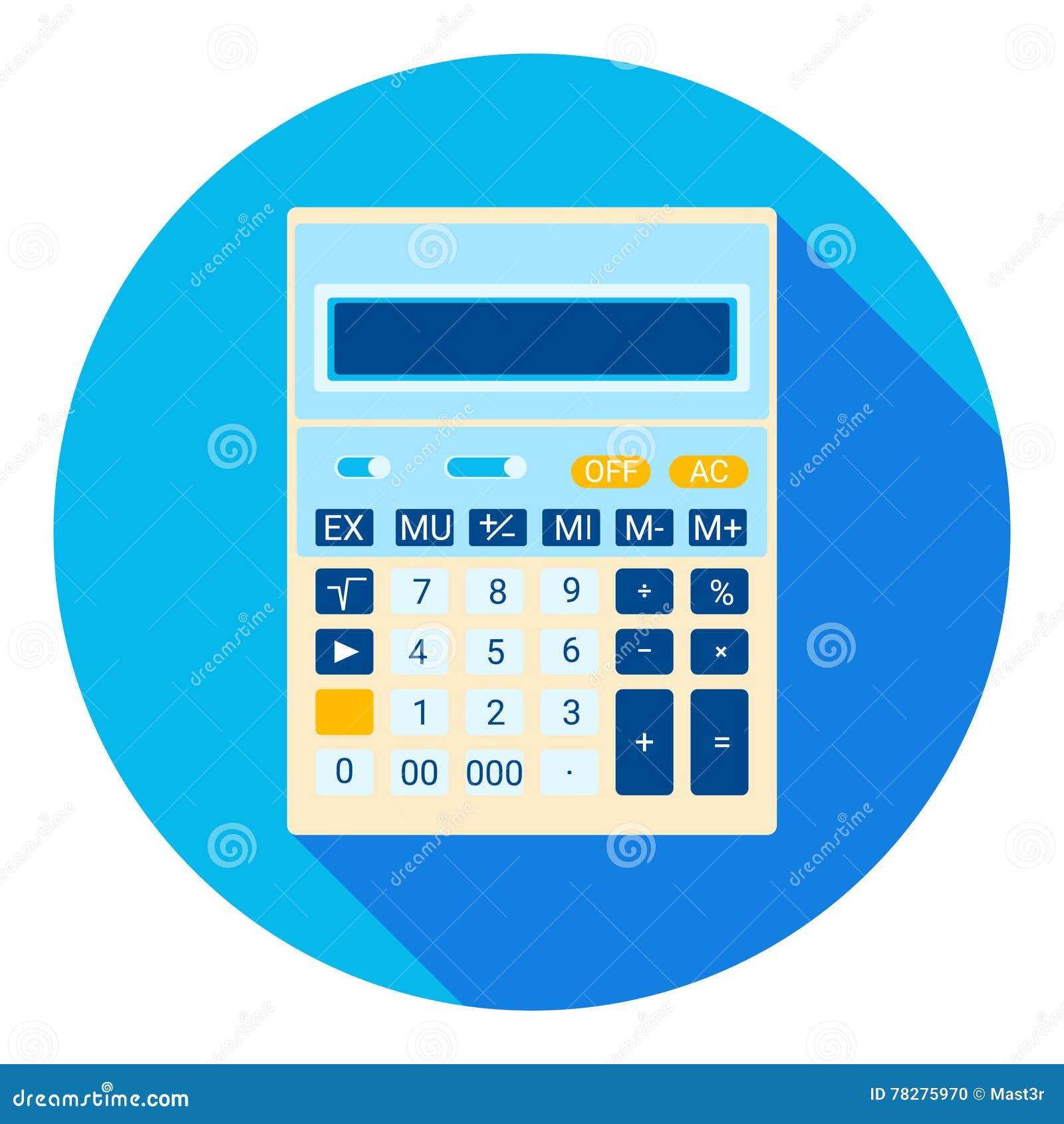 Taschenrechner Mathematischer Buchhalter Web Icon Vektor Abbildung