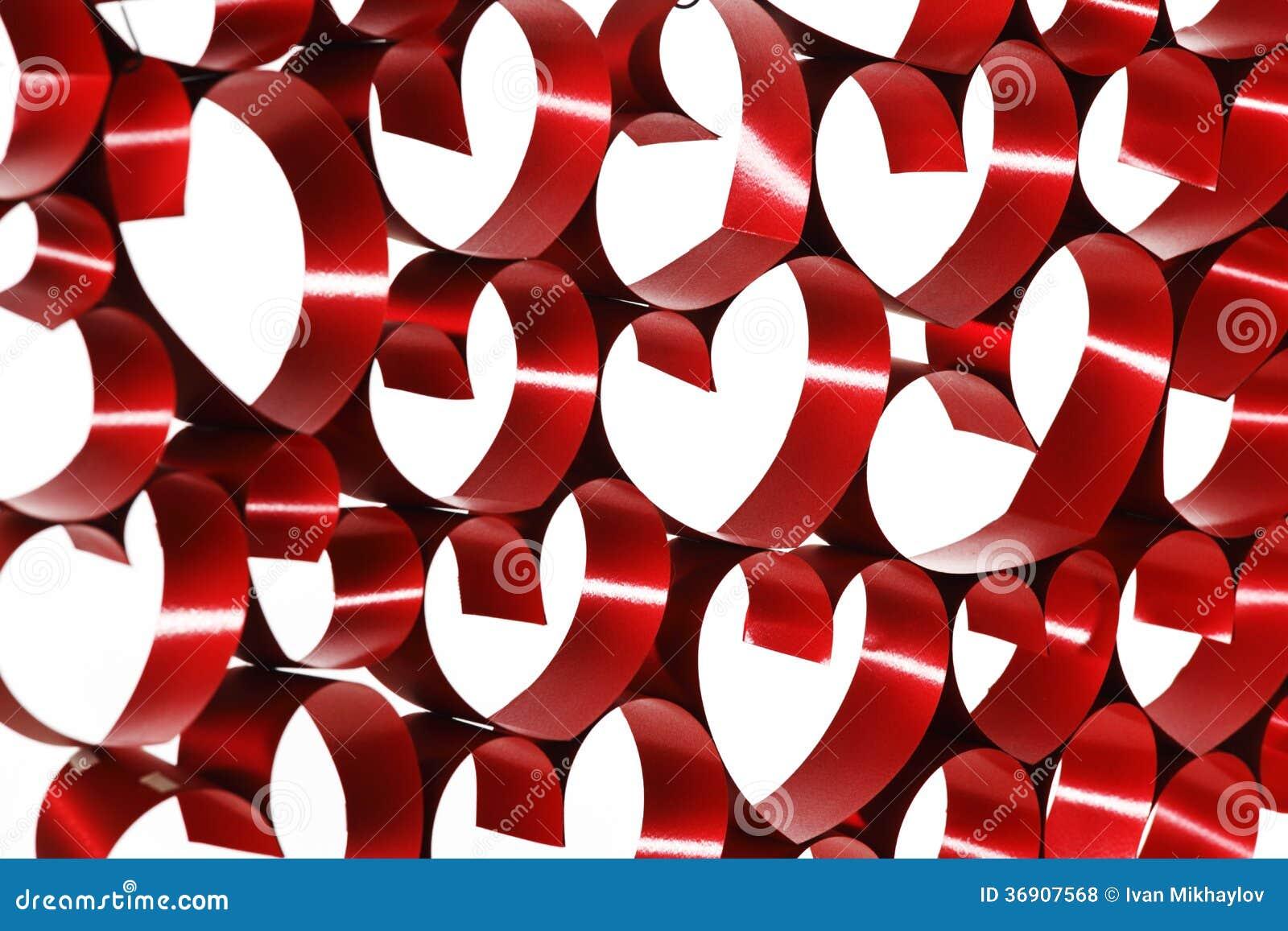 Tasiemkowa serce dekoracja
