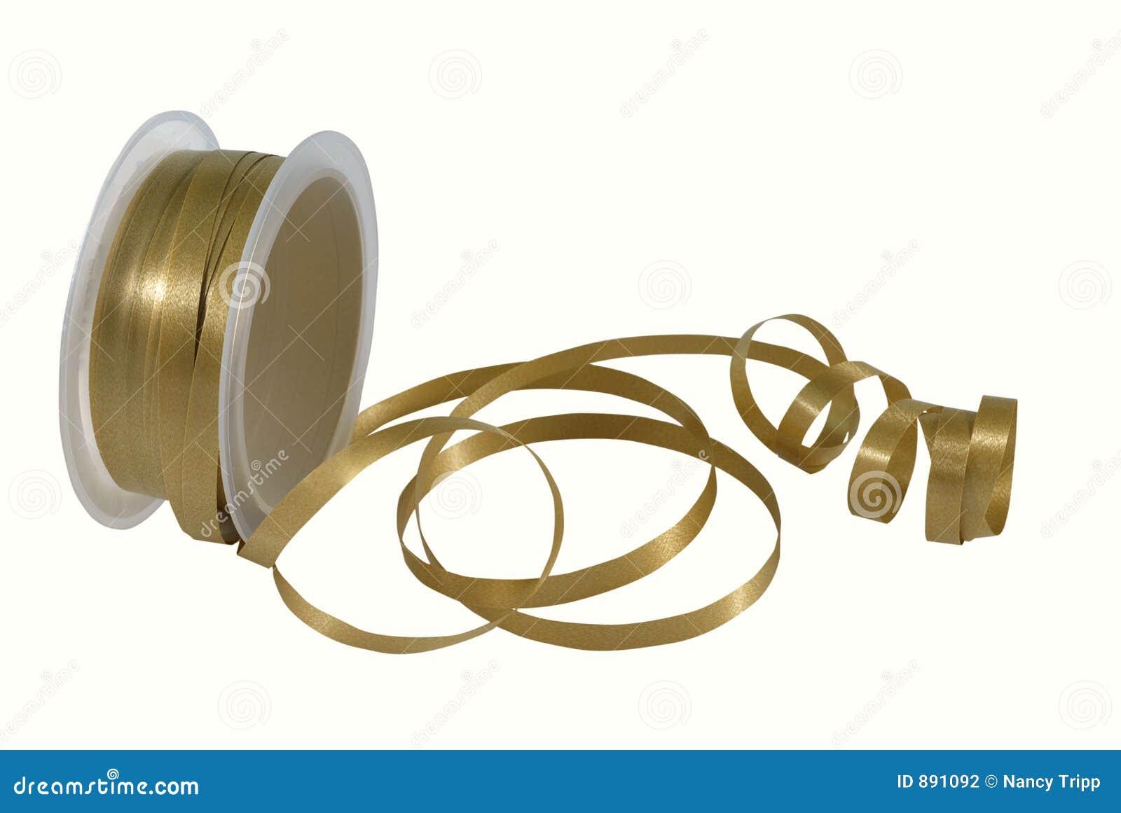 Tasiemkowa spool złota