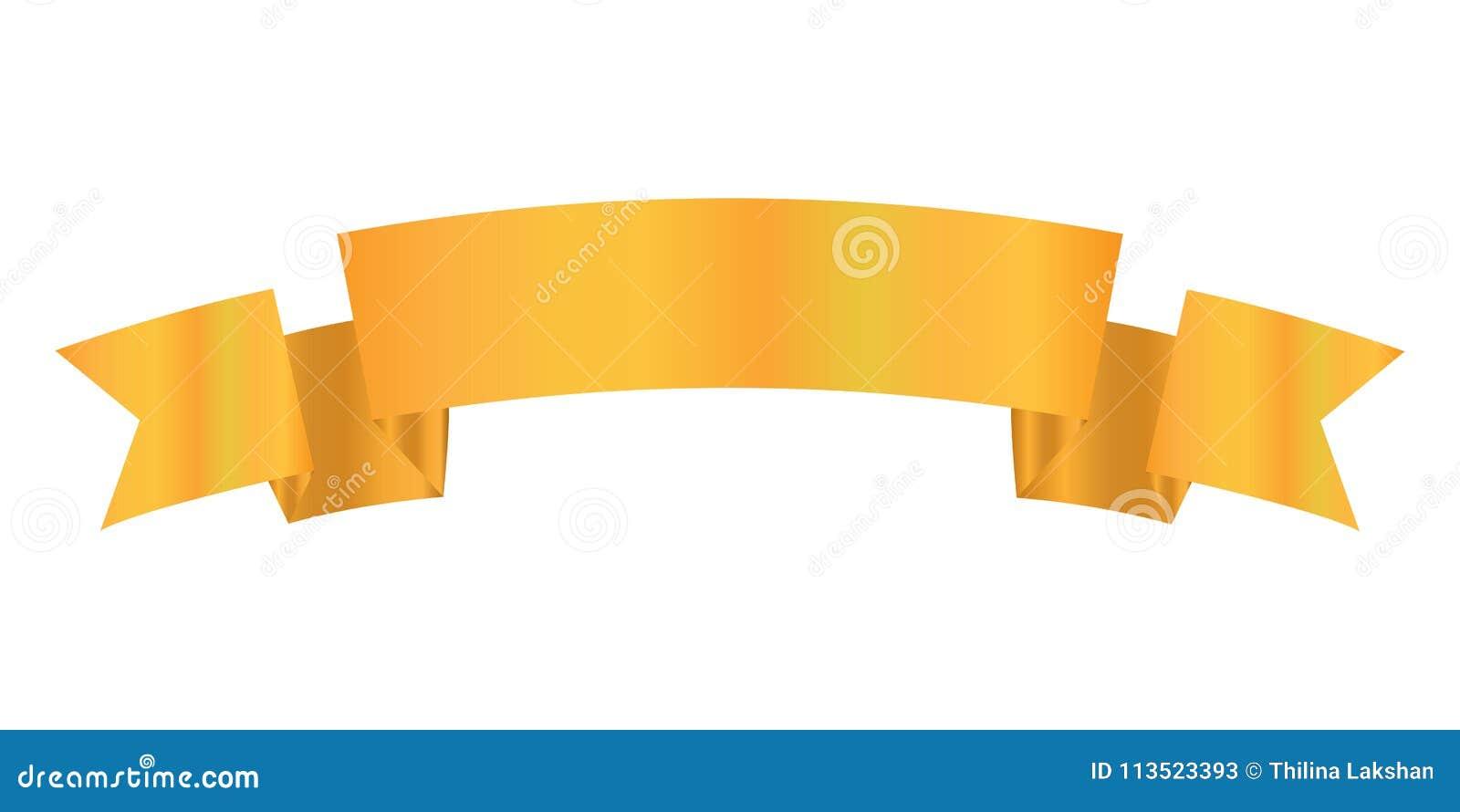 Tasiemkowego projekta złocisty kolor, Tasiemkowa ikona