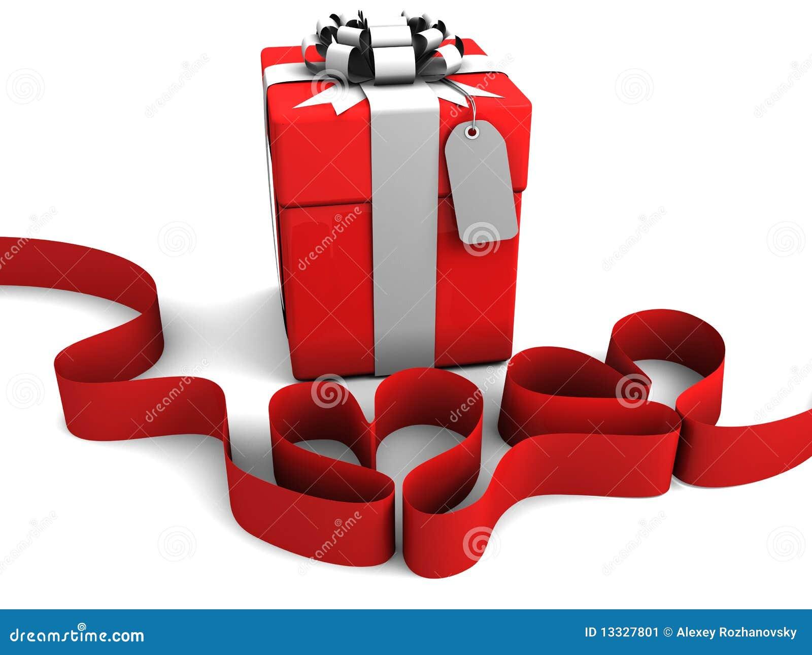 Tasiemkowi prezentów pudełkowaci serca