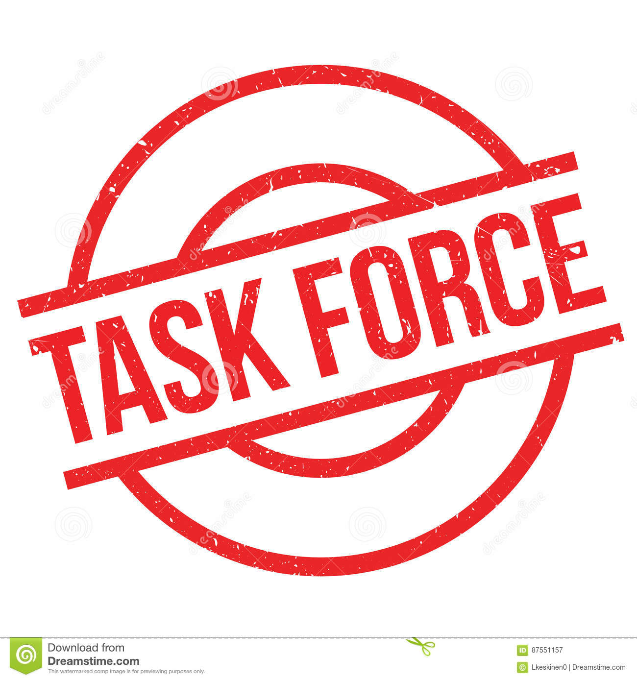 Task Force rubber stamp