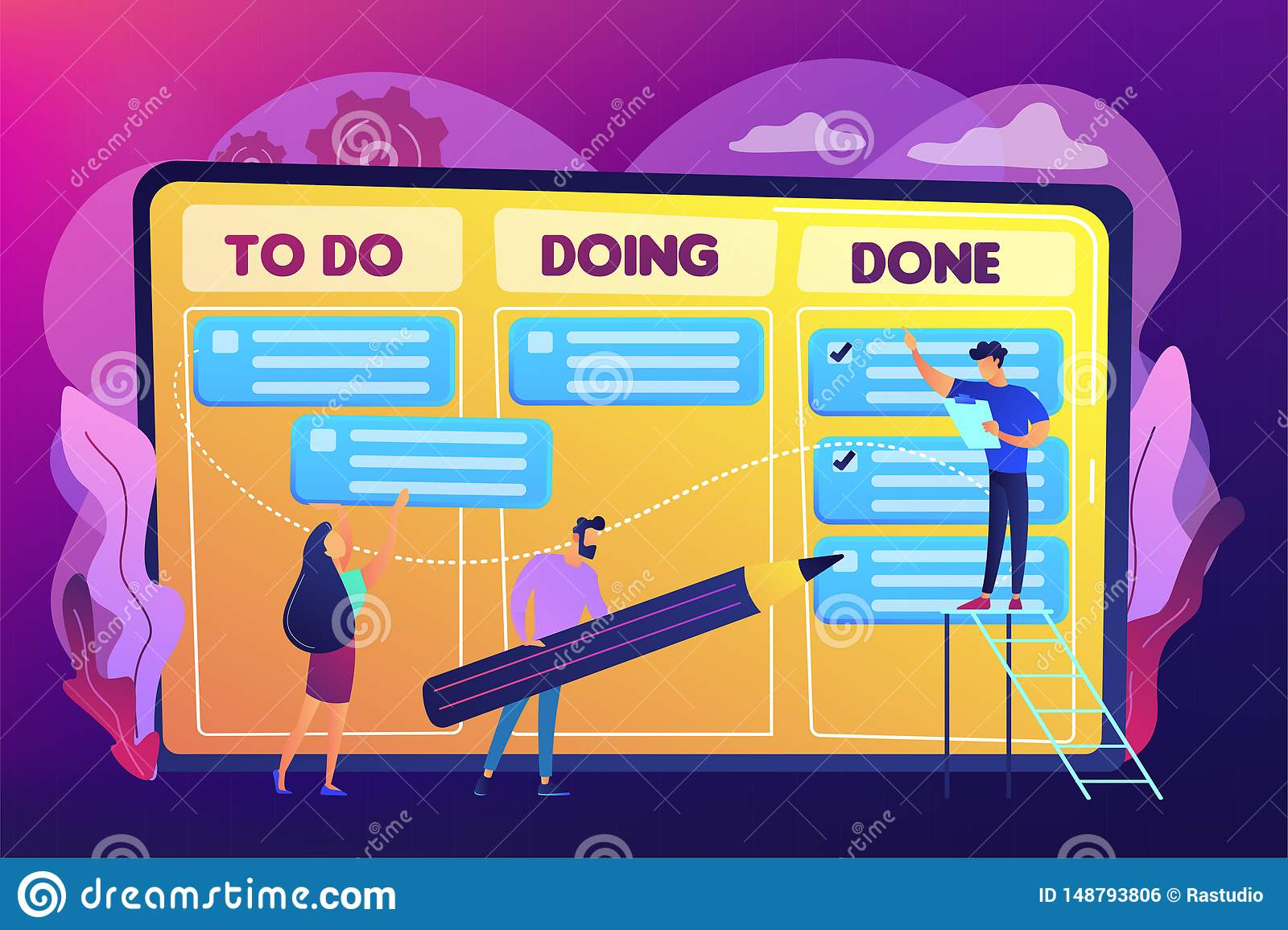 Task Management Concept Vector Illustration Stock Vector Illustration Of Infographic Drawing 148793806