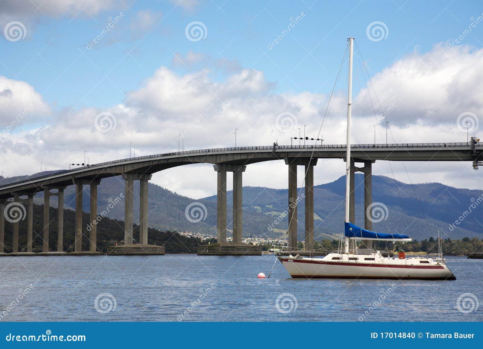 tasman bridge in hobart city stock photo image 17014840. Black Bedroom Furniture Sets. Home Design Ideas